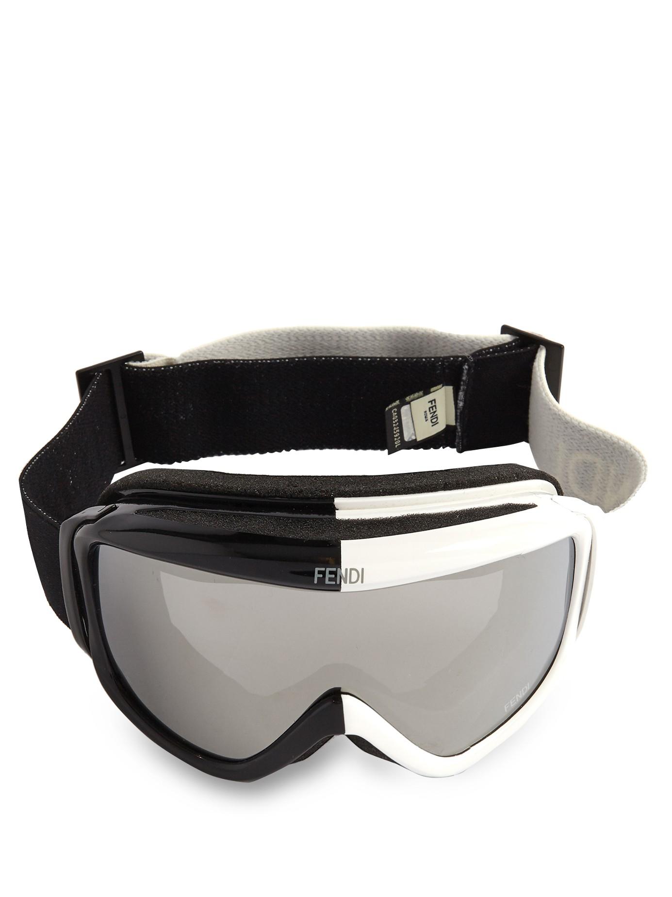 c2bf4700aa7 Lyst - Fendi Bi-colour Logo Strap Goggles for Men