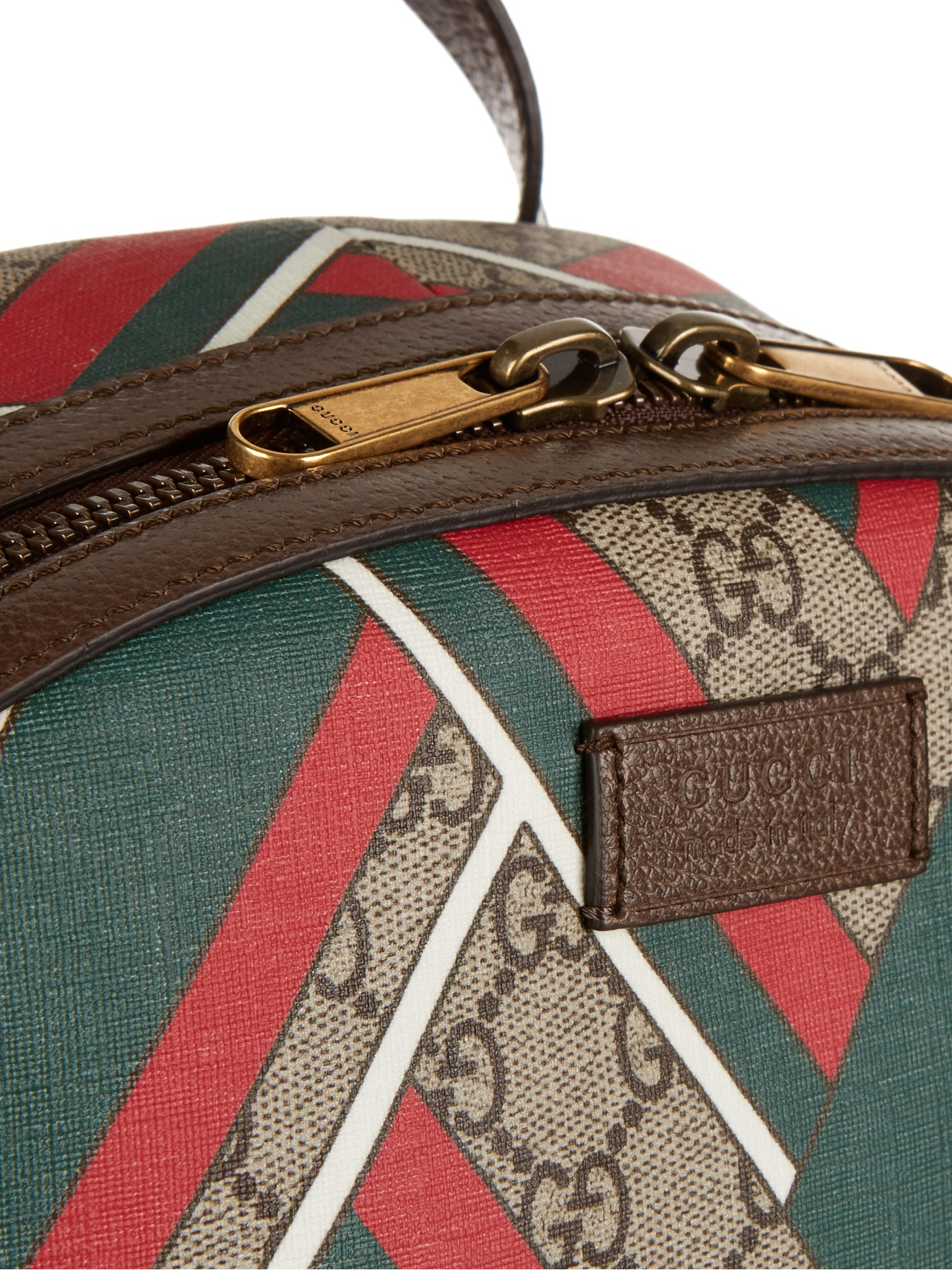0b188c01cade Gucci GG Supreme Canvas Chevron-Print Backpack in Brown for Men - Lyst