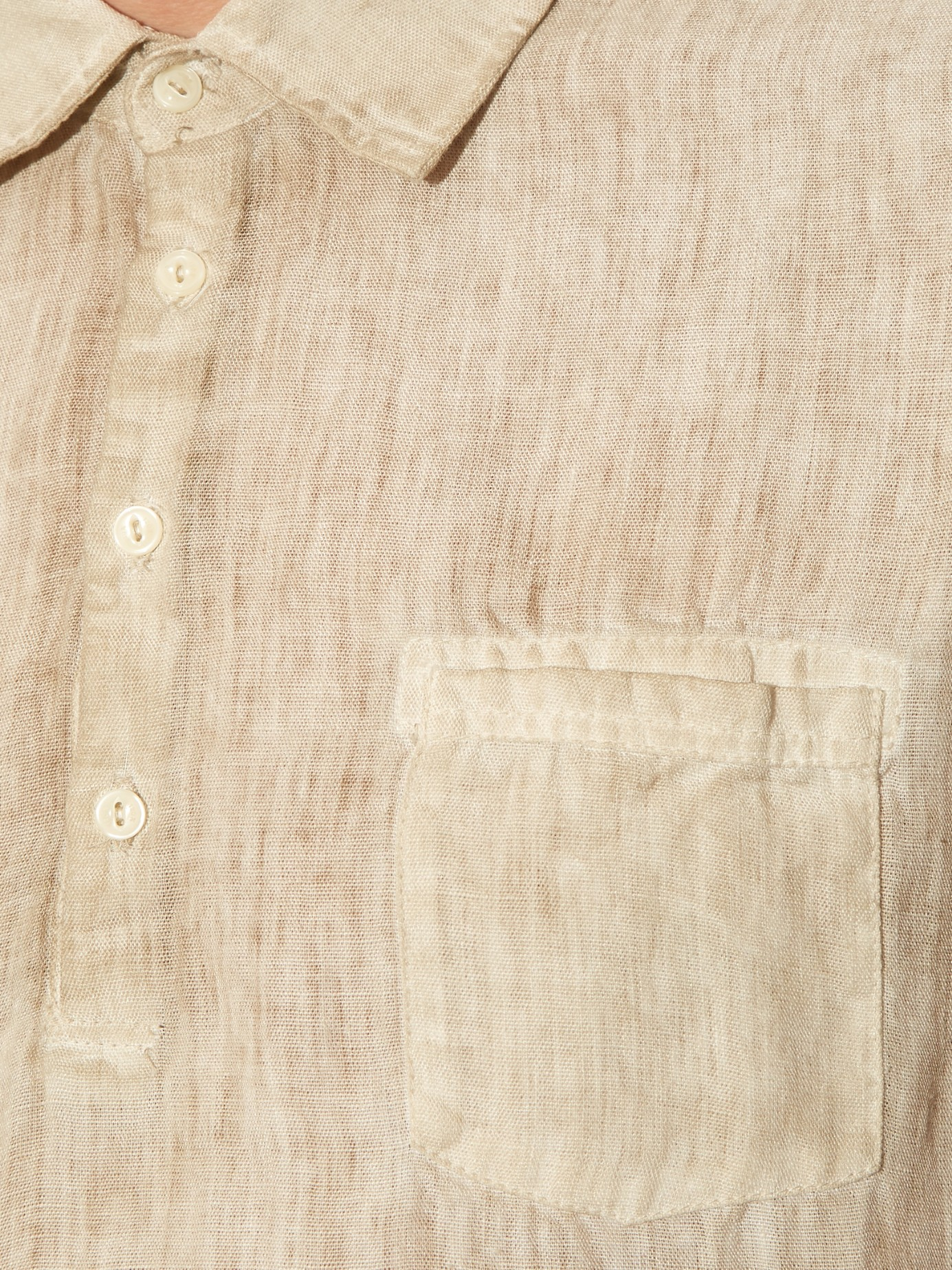 Lyst 120 Lino Short Sleeved Linen Shirt In Natural For Men