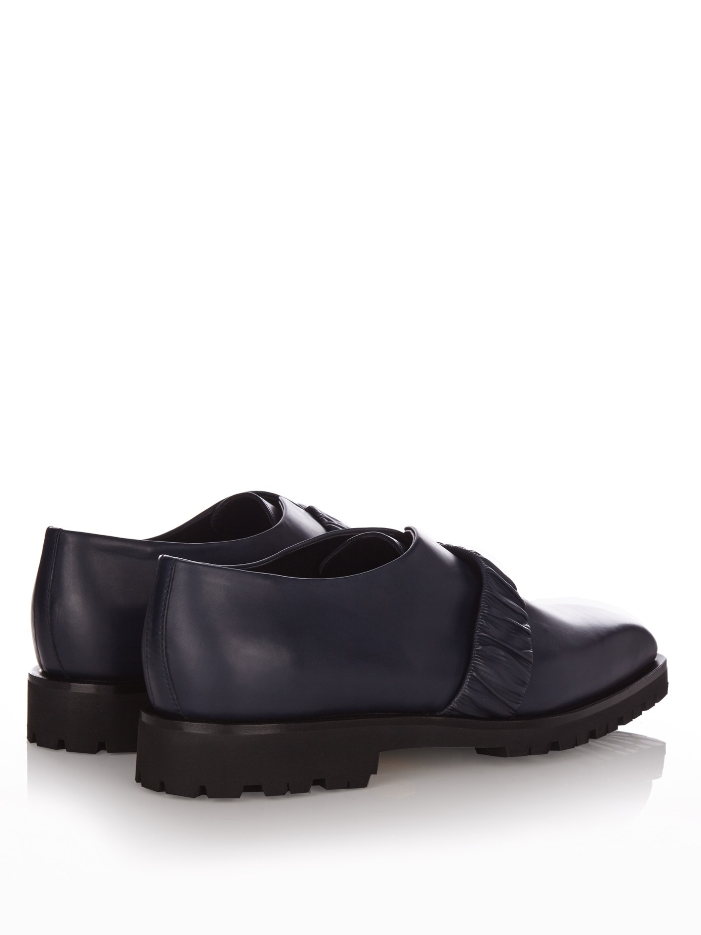 Lyst Rupert Sanderson Stanford Leather Loafers In Blue