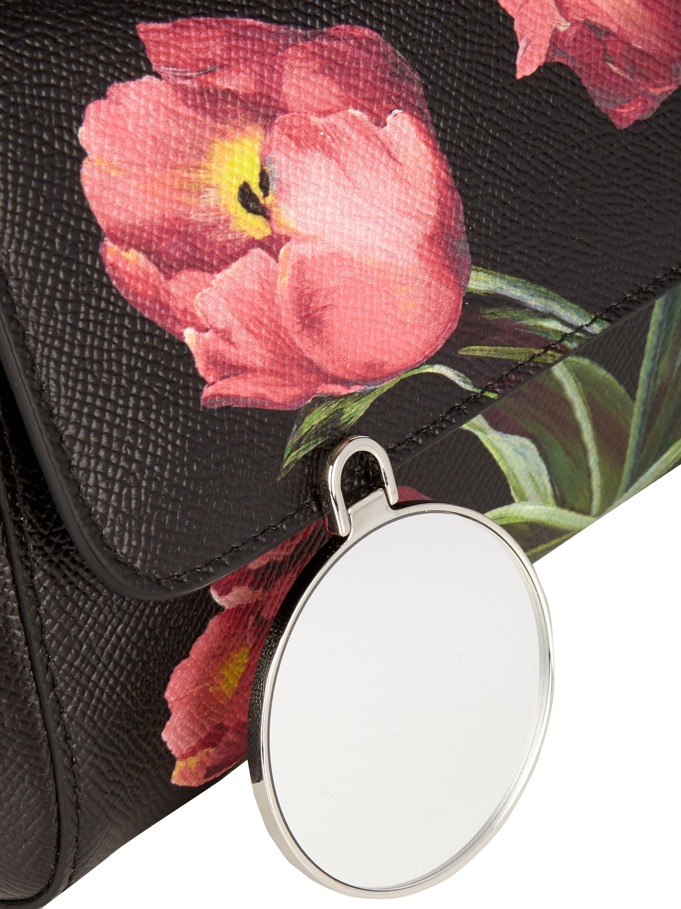 Dolce   Gabbana Sicily Small Tulip-print Leather Cross-body Bag in ... 5a077323de26b