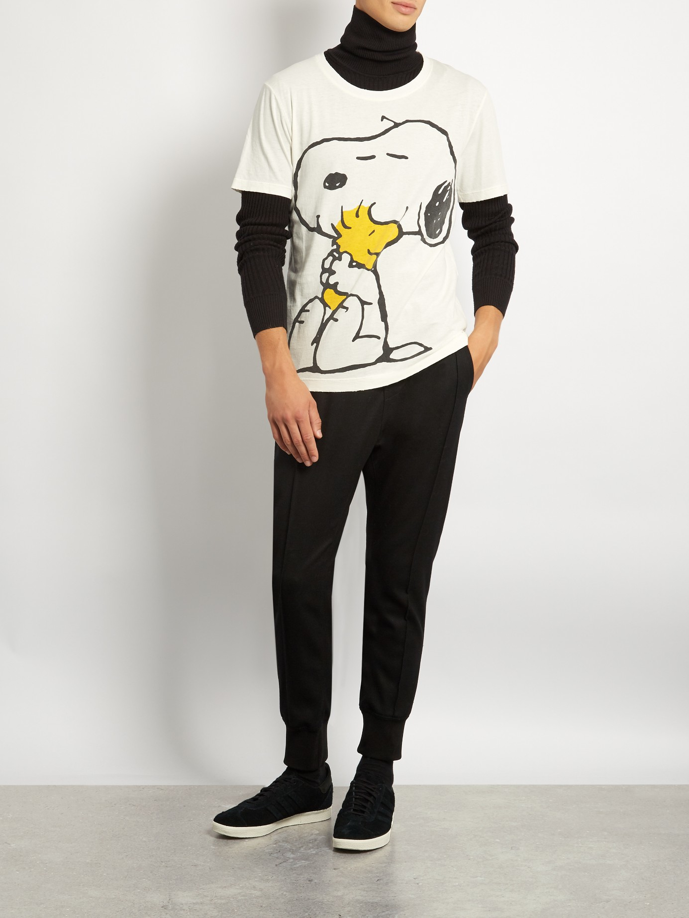 1602c30679a Lyst - Gucci Snoopy And Woodstock-print Cotton T-shirt for Men