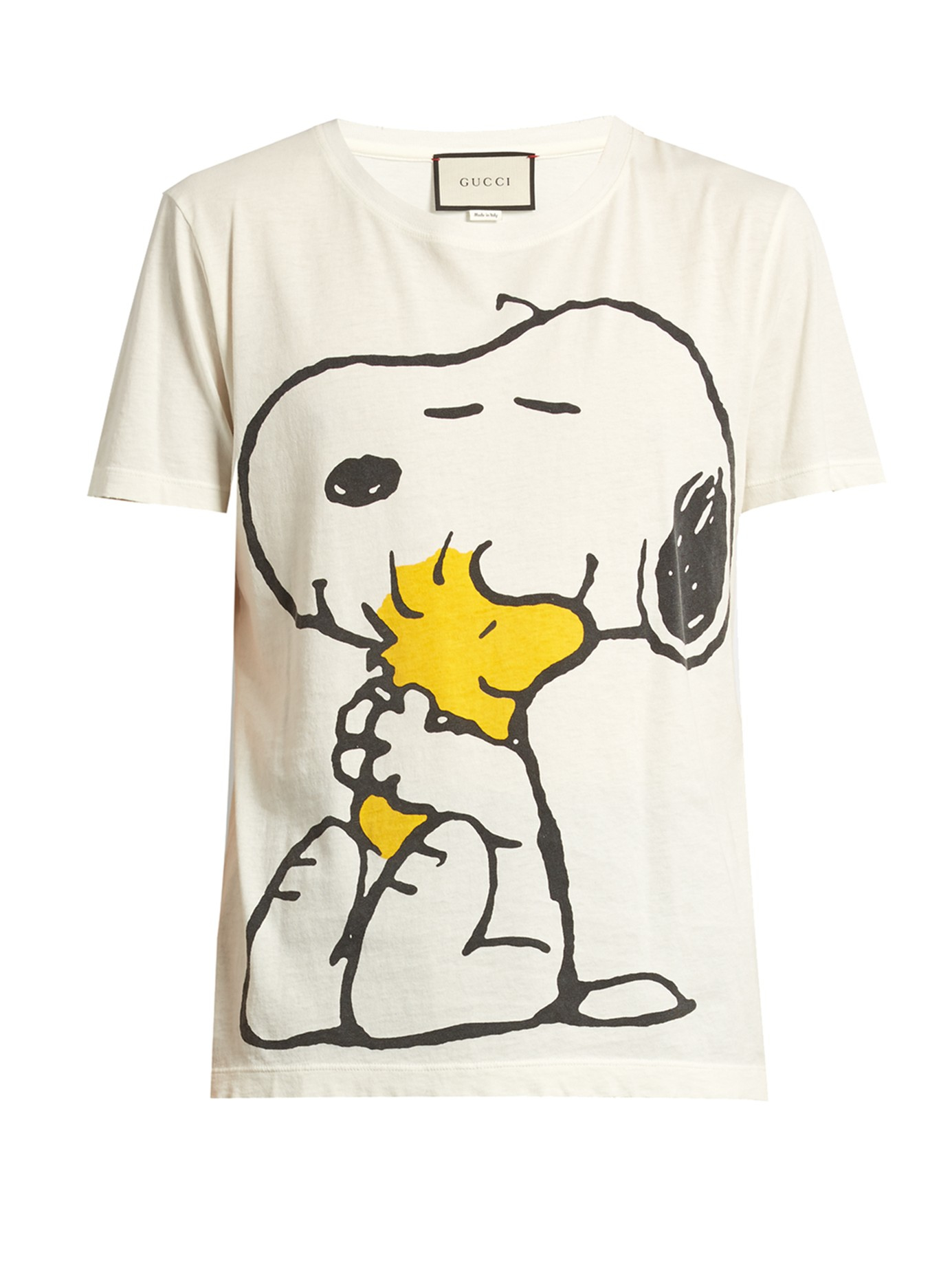 14b5b8d262f Lyst - Gucci Snoopy And Woodstock-print Cotton T-shirt for Men