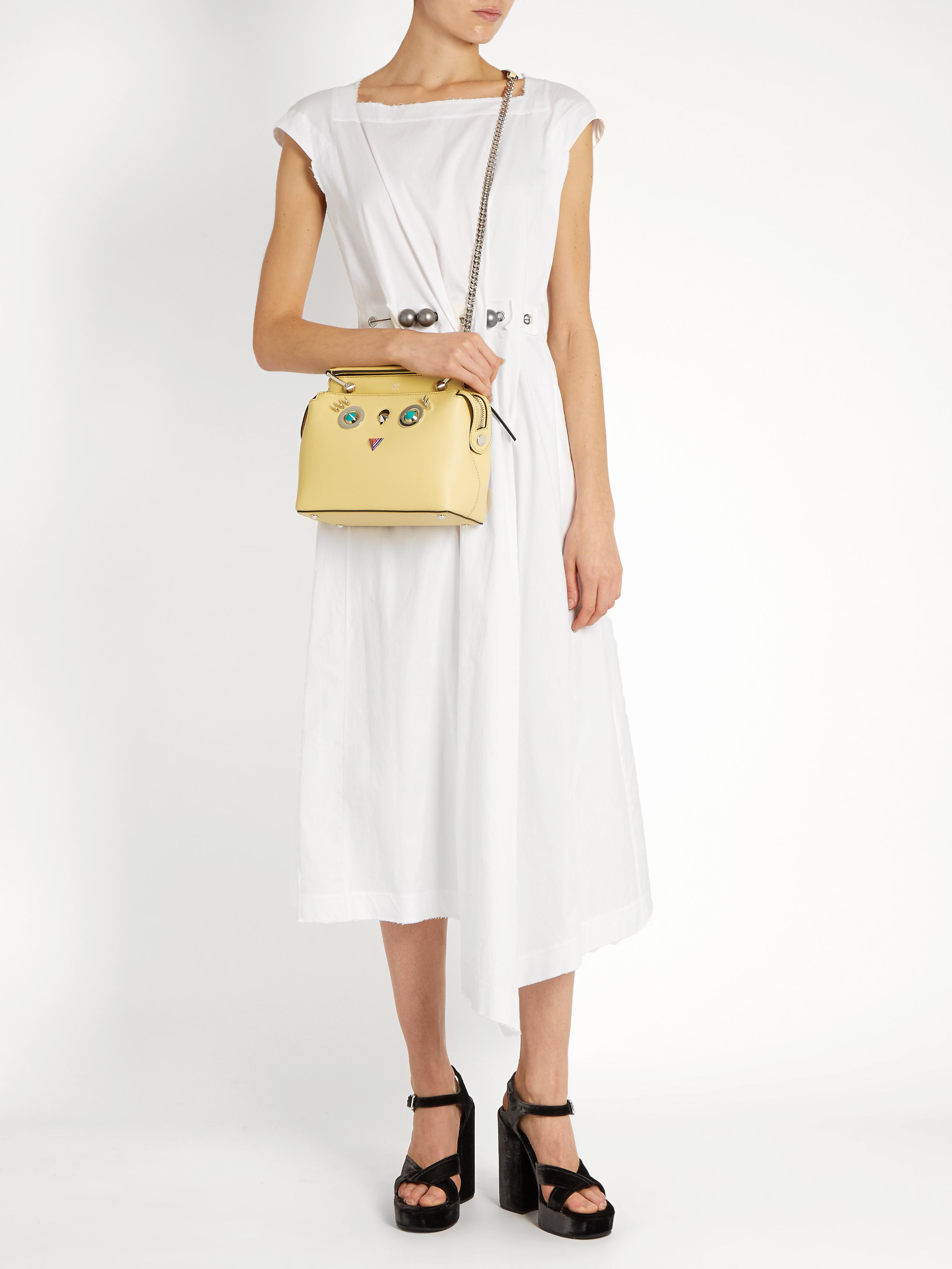Fendi Dotcom Small Hypnoteyes Leather Cross-body Bag - Lyst 85a765887c64a