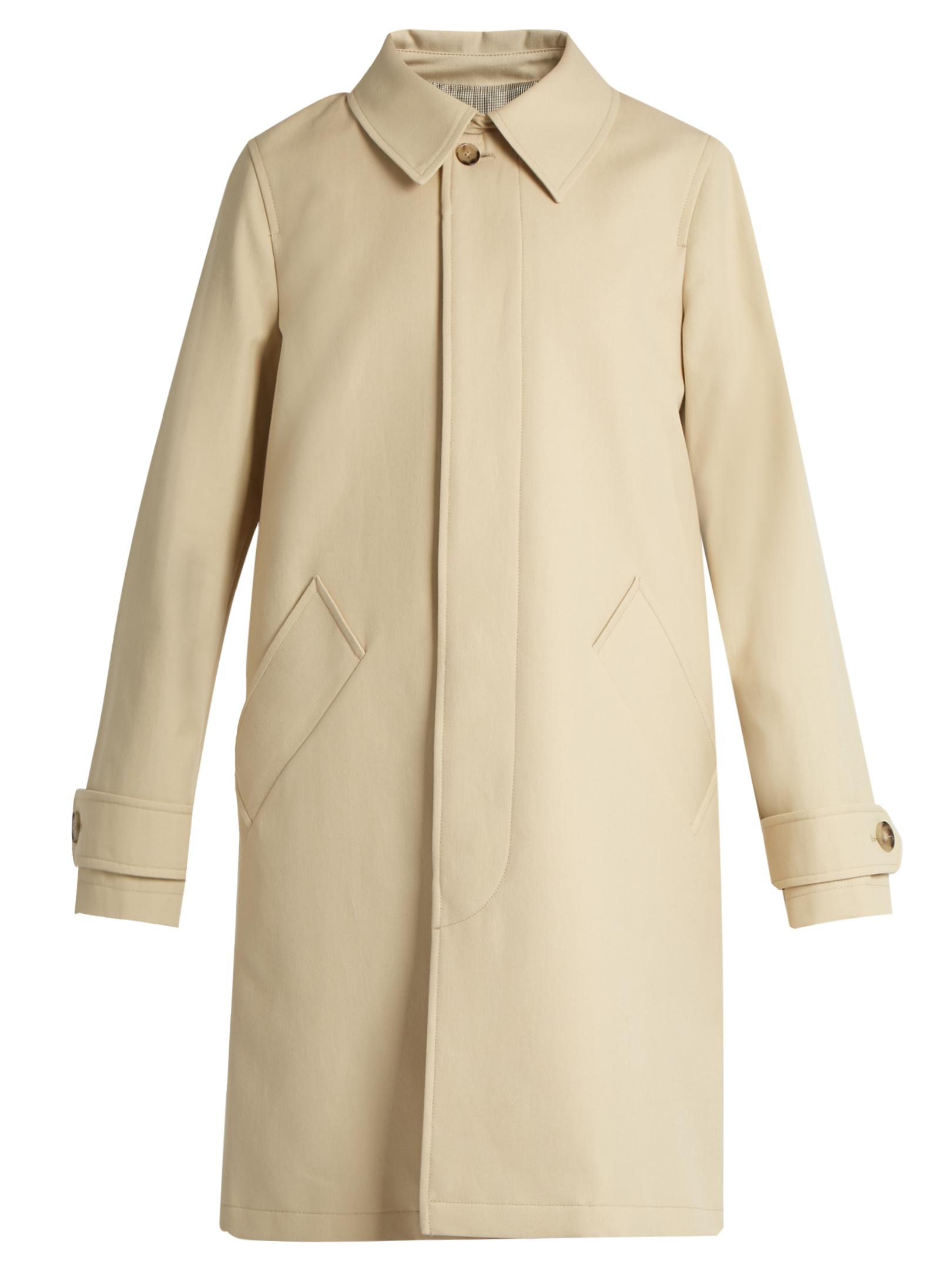 A.p.c. Dinard Cotton And Wool-blend Coat in Natural