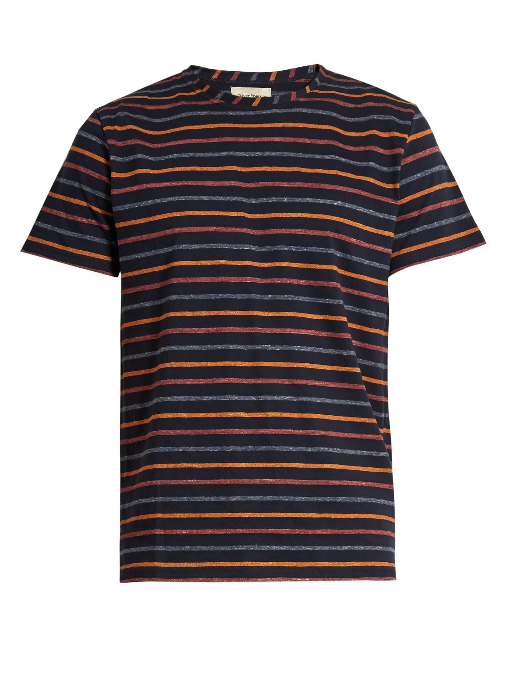 lyst oliver spencer breton striped cotton t shirt in. Black Bedroom Furniture Sets. Home Design Ideas