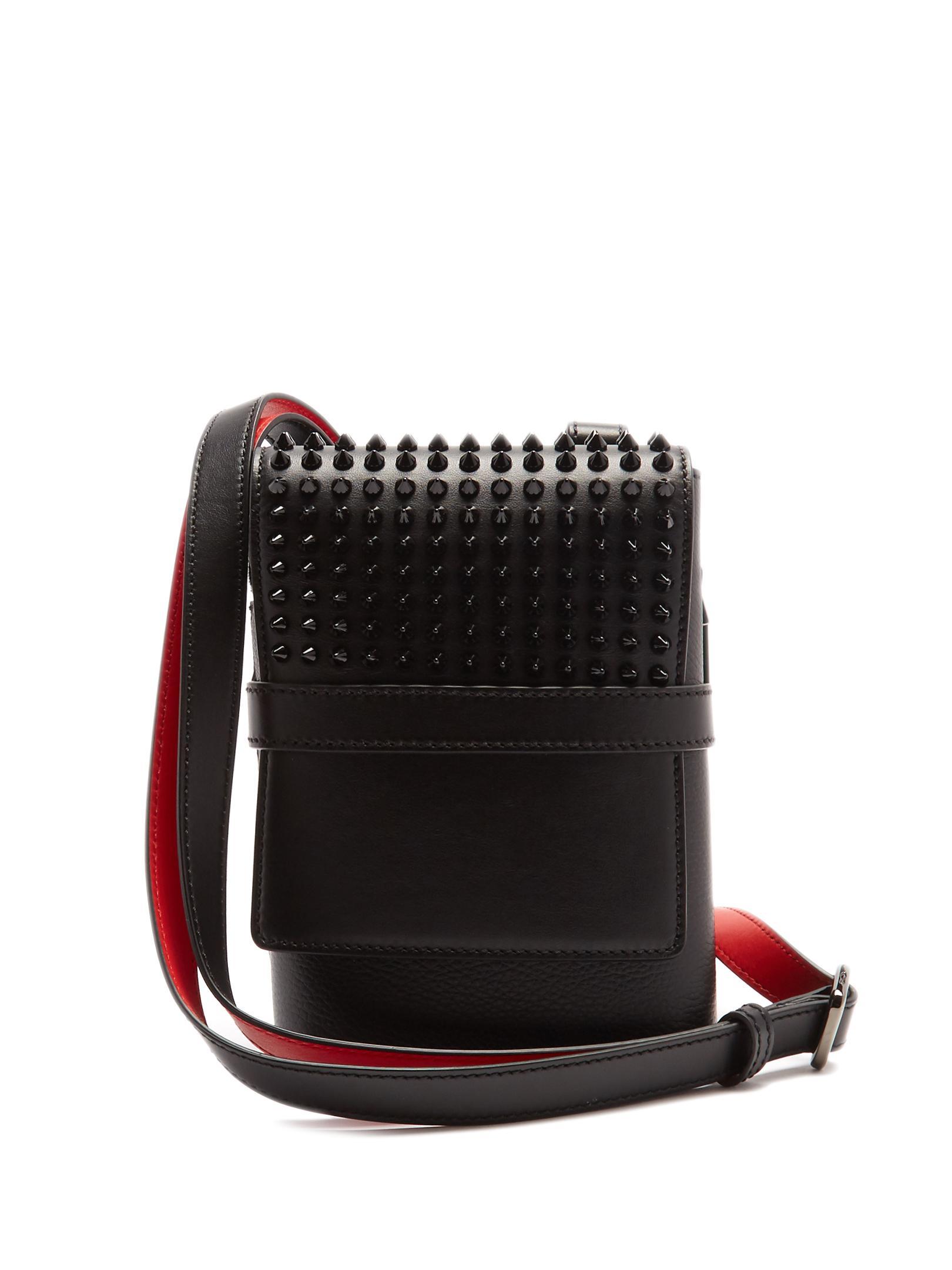 fd8dc665df945 Christian Louboutin Benech Reporter Leather Messenger Bag in Black ...