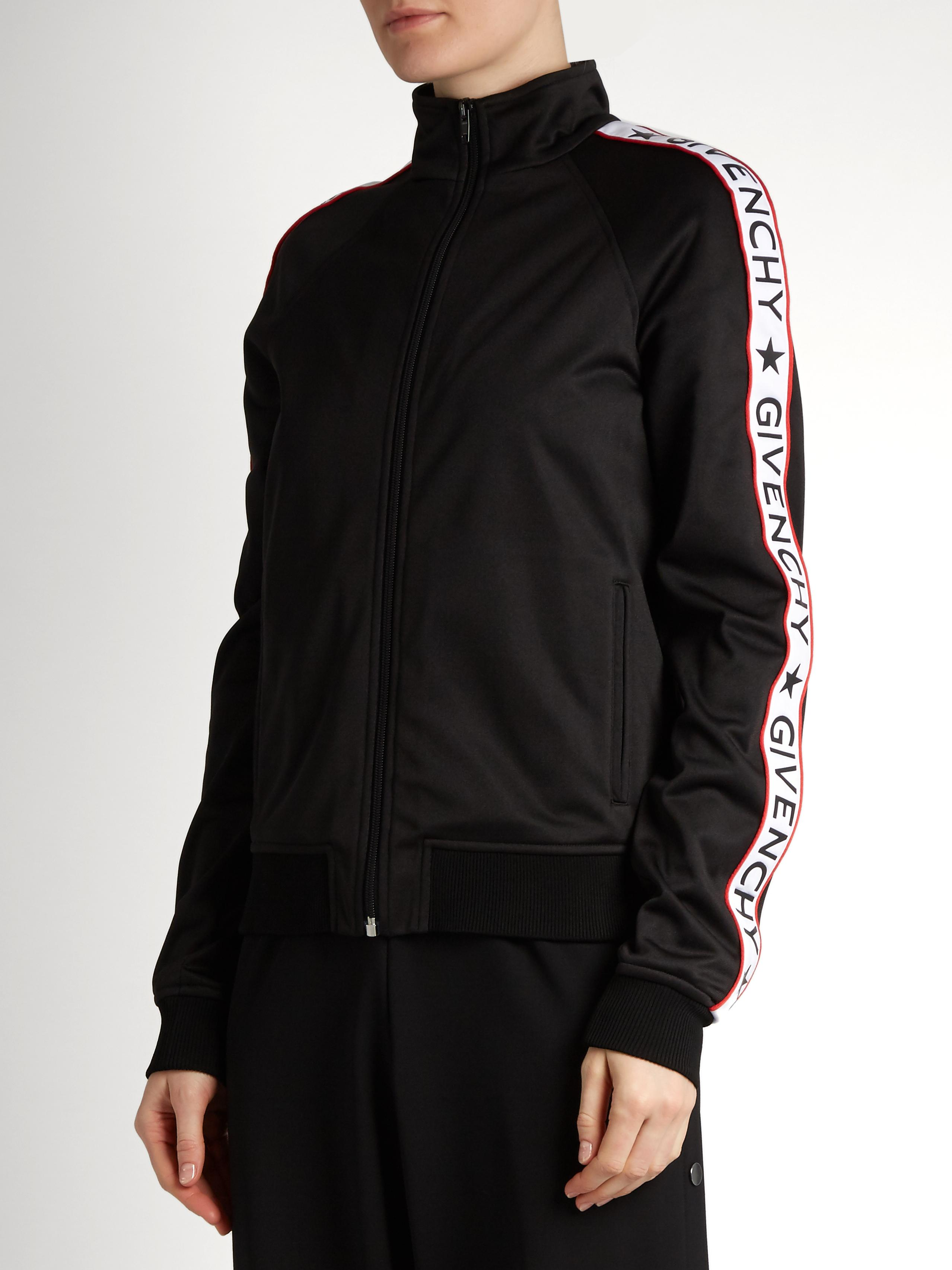 lyst givenchy logoprint technicaljersey track jacket
