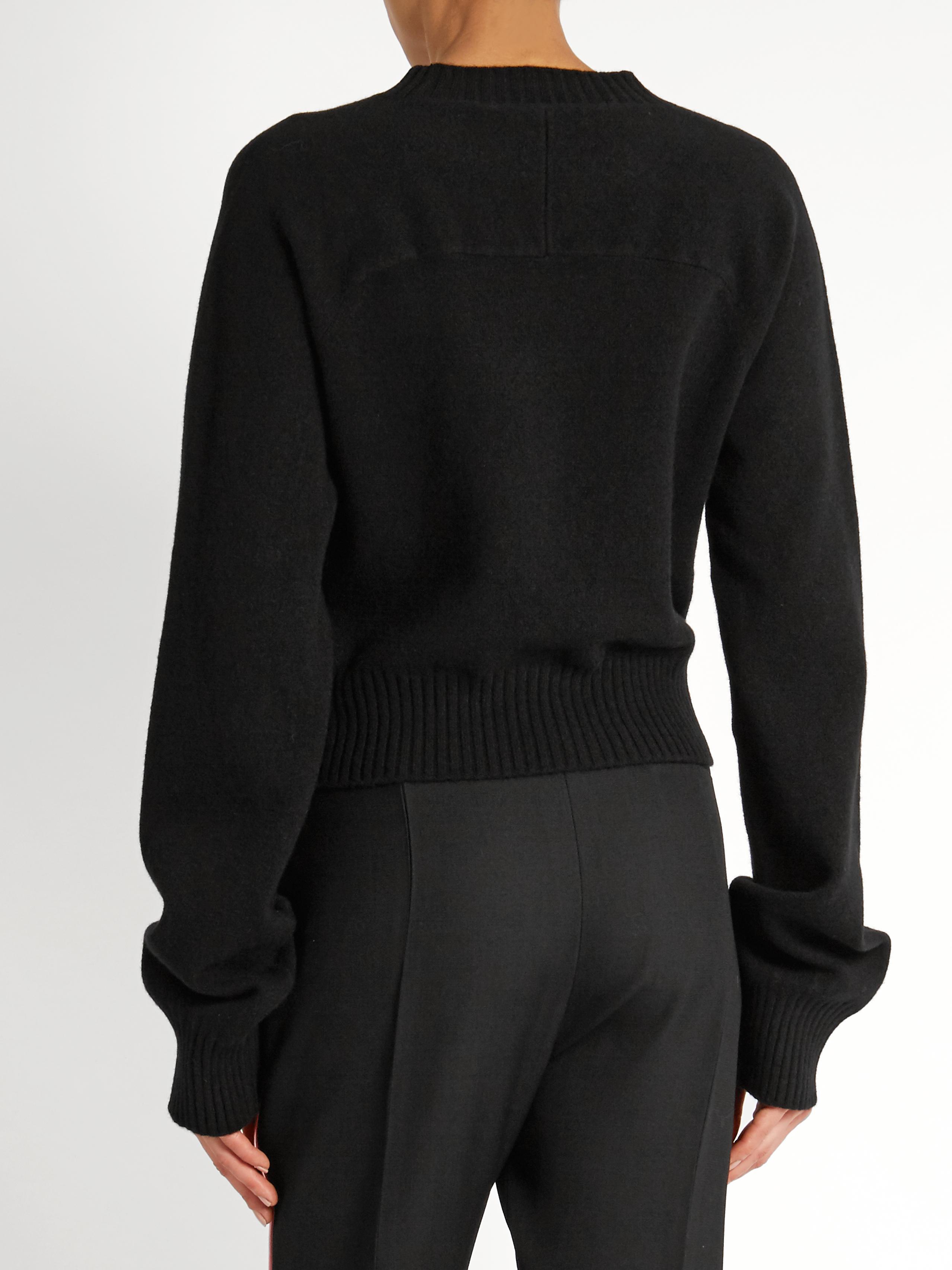 haider ackermann invidia asymmetric hem wool blend sweater. Black Bedroom Furniture Sets. Home Design Ideas