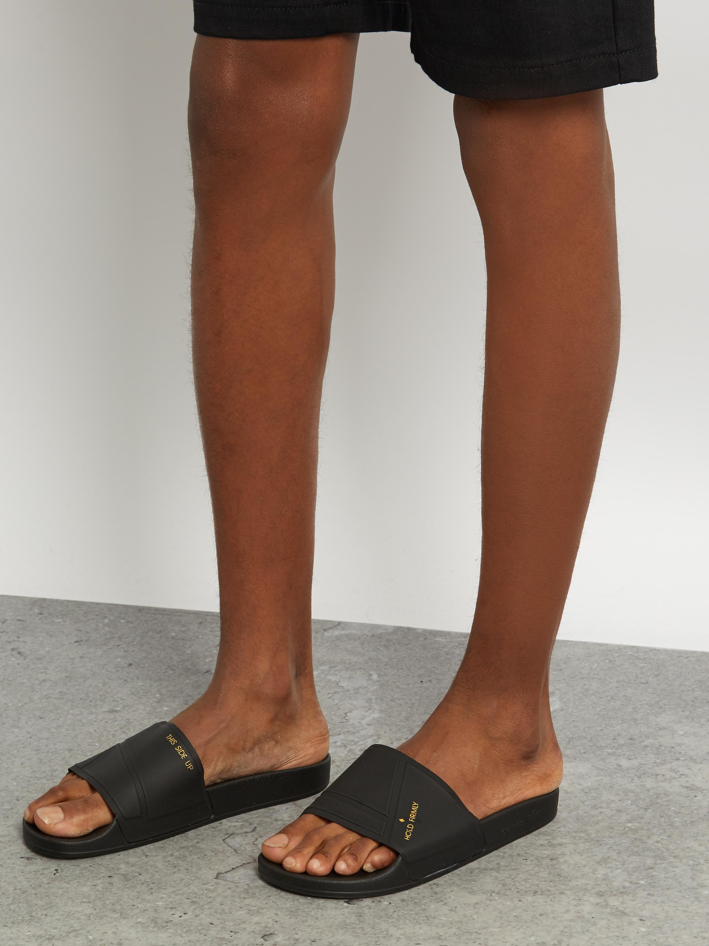8e0dbe519cdd adidas By Raf Simons Bunny Adilette Pool Slides in Black for Men - Lyst