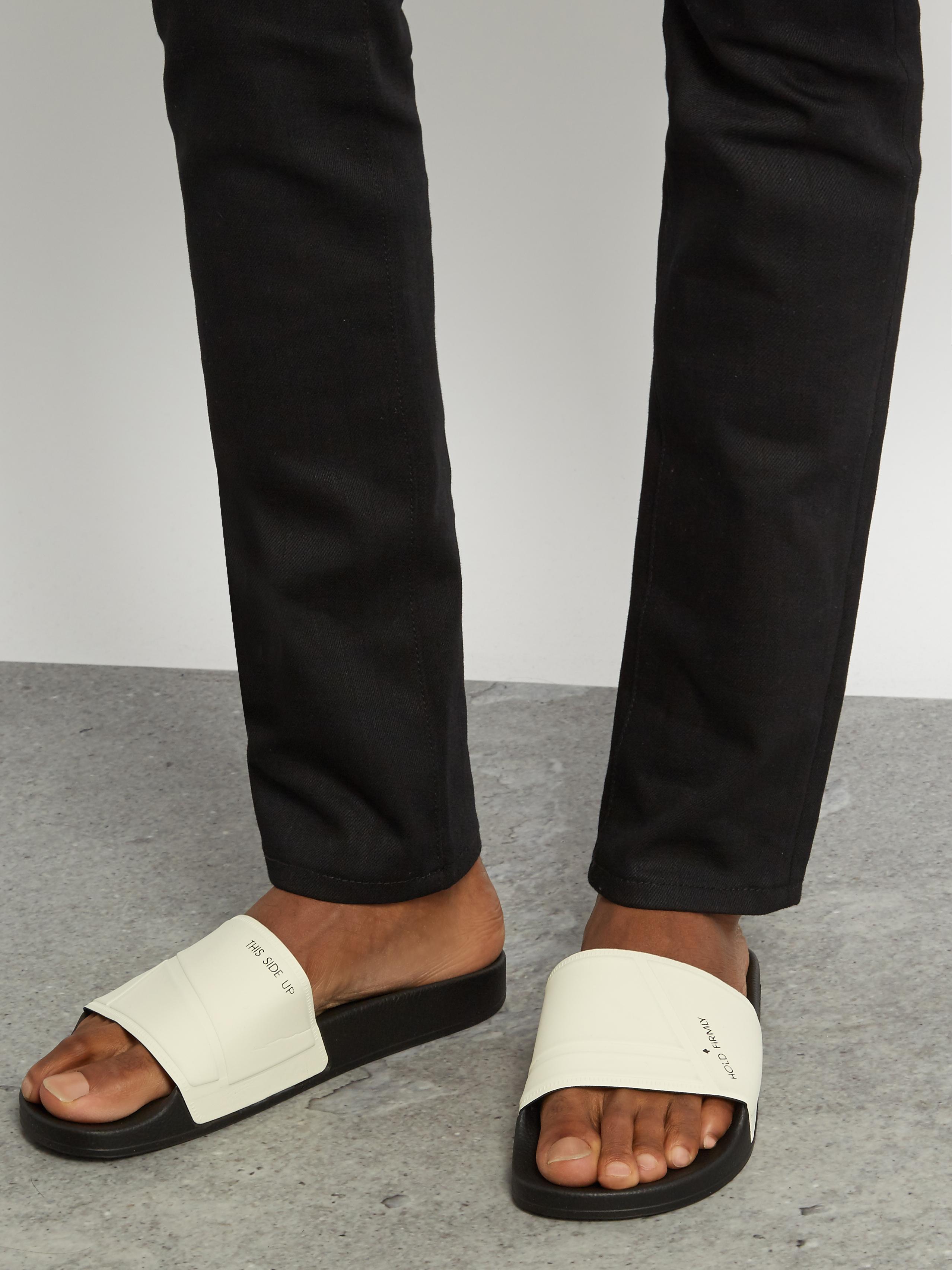 2245c97616d68 Lyst - adidas By Raf Simons Bunny Adilette Pool Slides in Black for Men