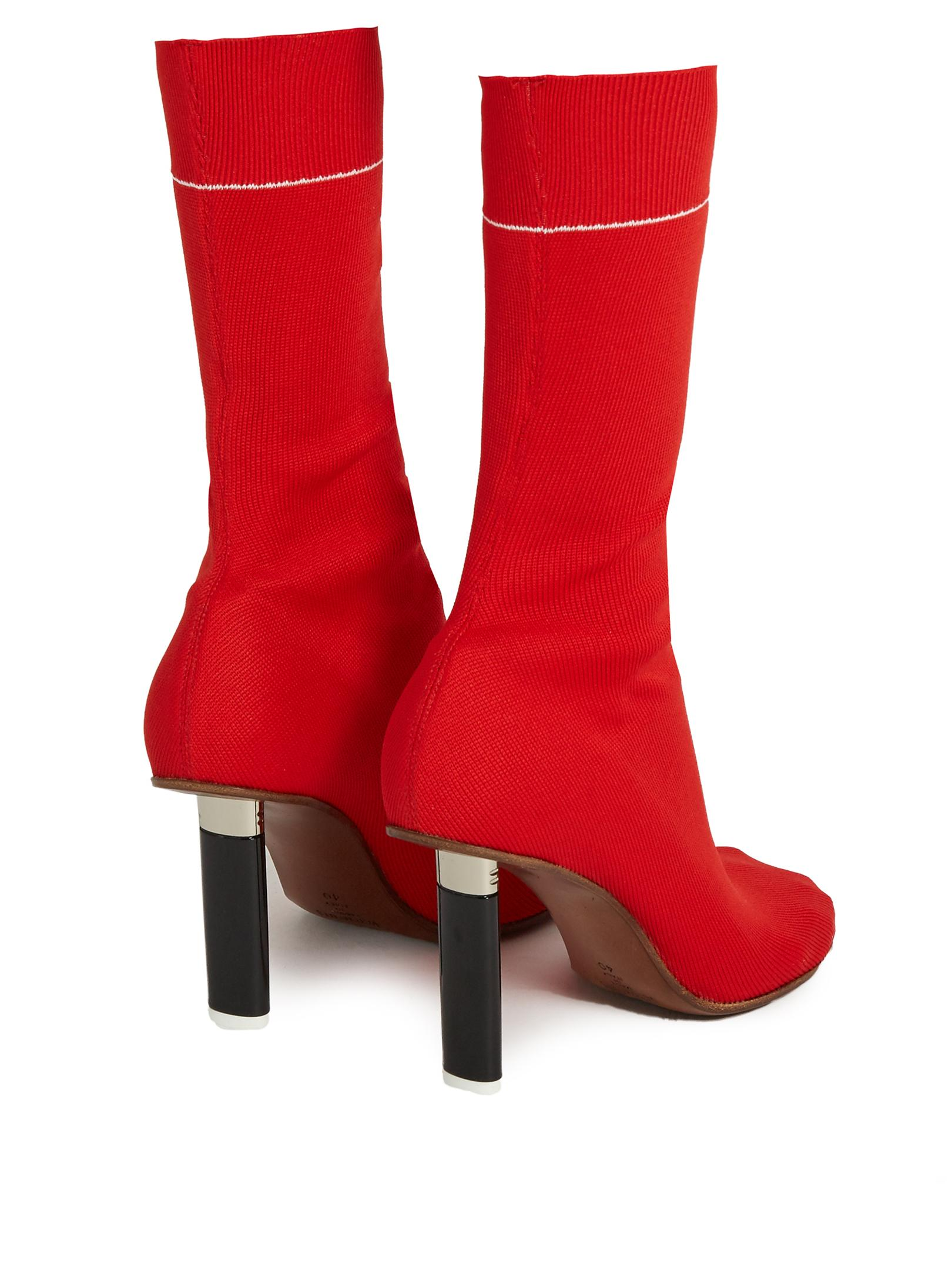 Red Lighter Sock Boots VETEMENTS