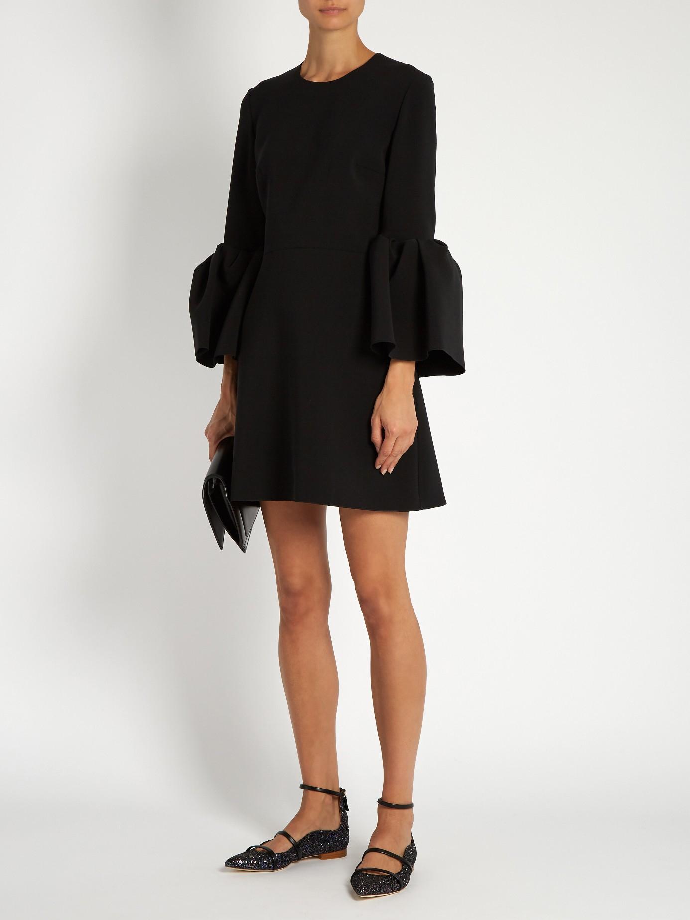 Lyst Roksanda Hadari Bell Sleeved Cady Dress In Black