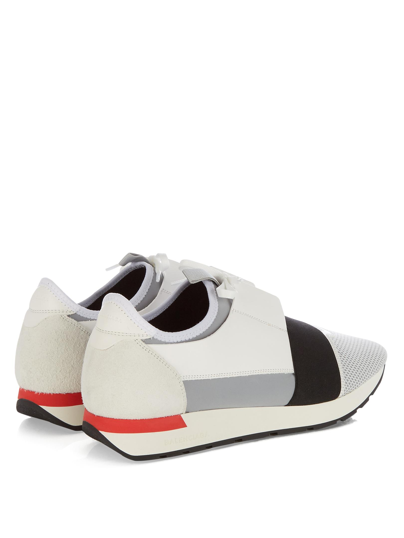 Balenciaga Race Runners Panelled Low-top Trainers in White ...   1620 x 2160 jpeg 123kB