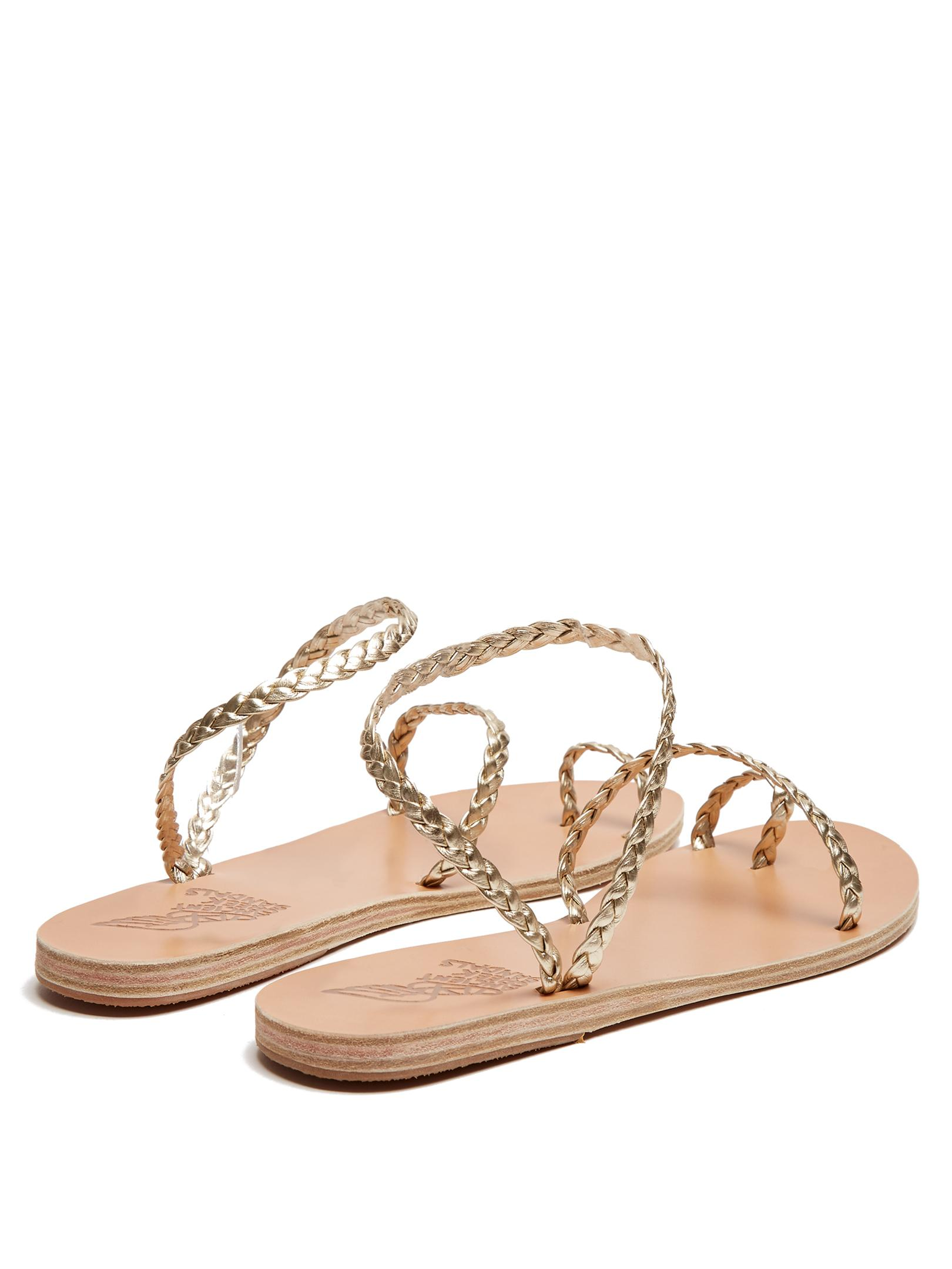 Lyst Ancient Greek Sandals Eletheria Plaited Leather
