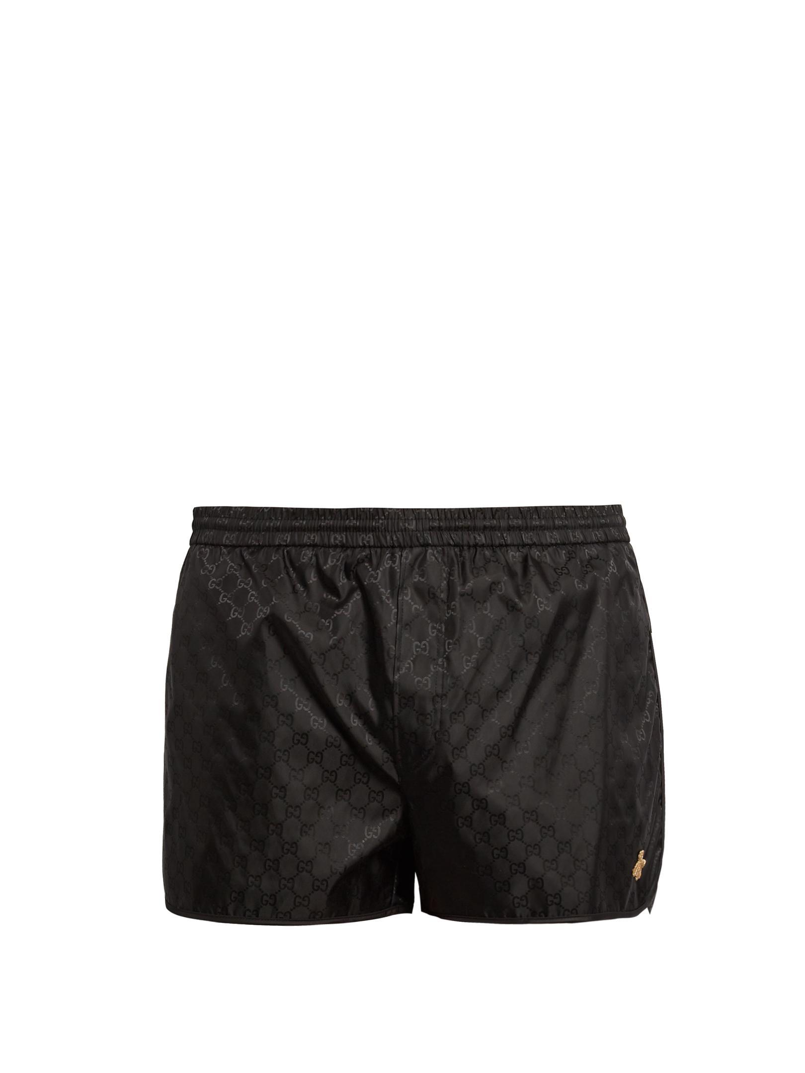 fe6cb05ef6 Gucci Gg Nylon Swim Shorts in Black for Men - Lyst