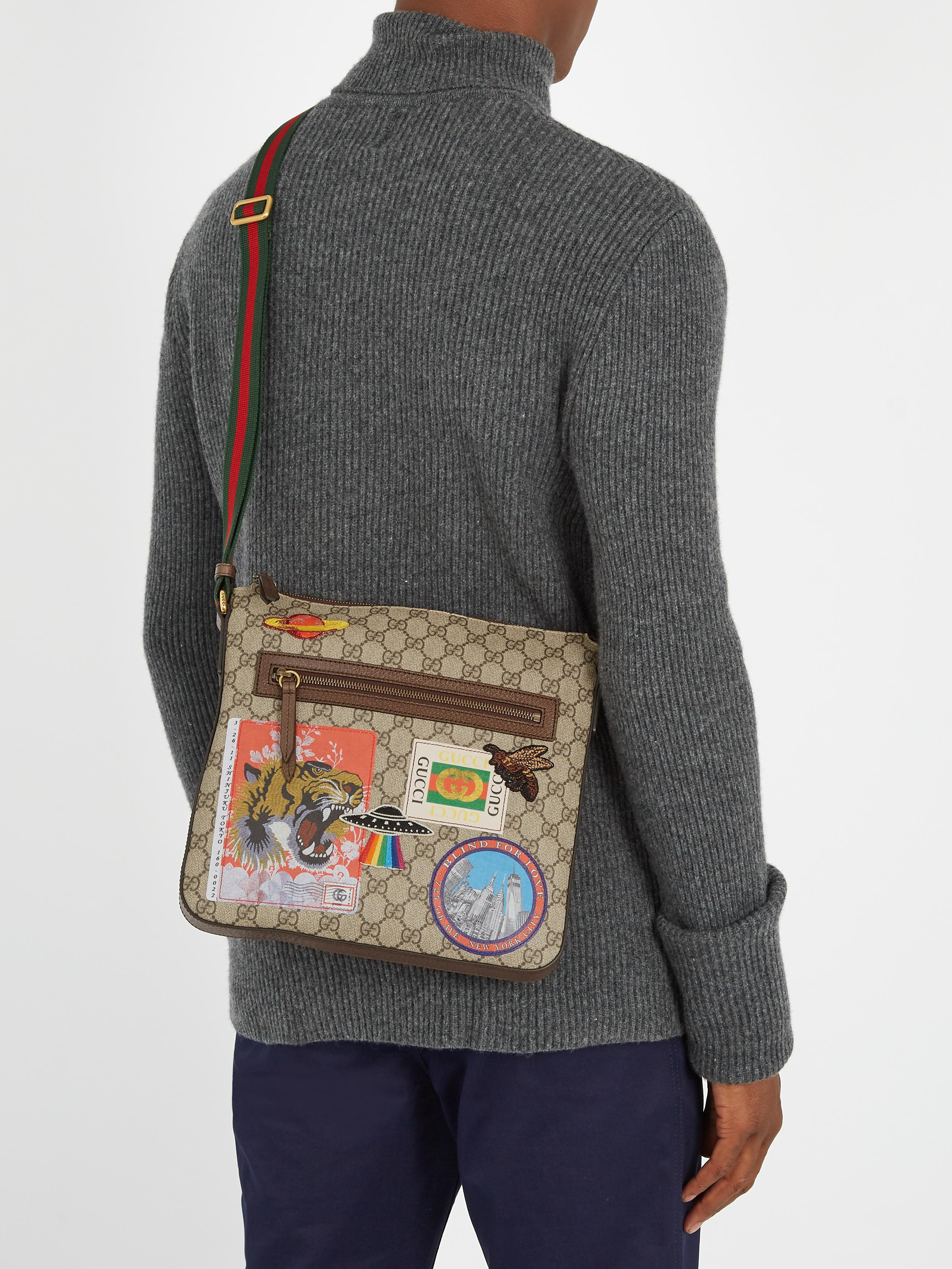 aaa8b1adc7d Lyst - Gucci Courrier Gg Supreme Messenger Bag in Brown for Men