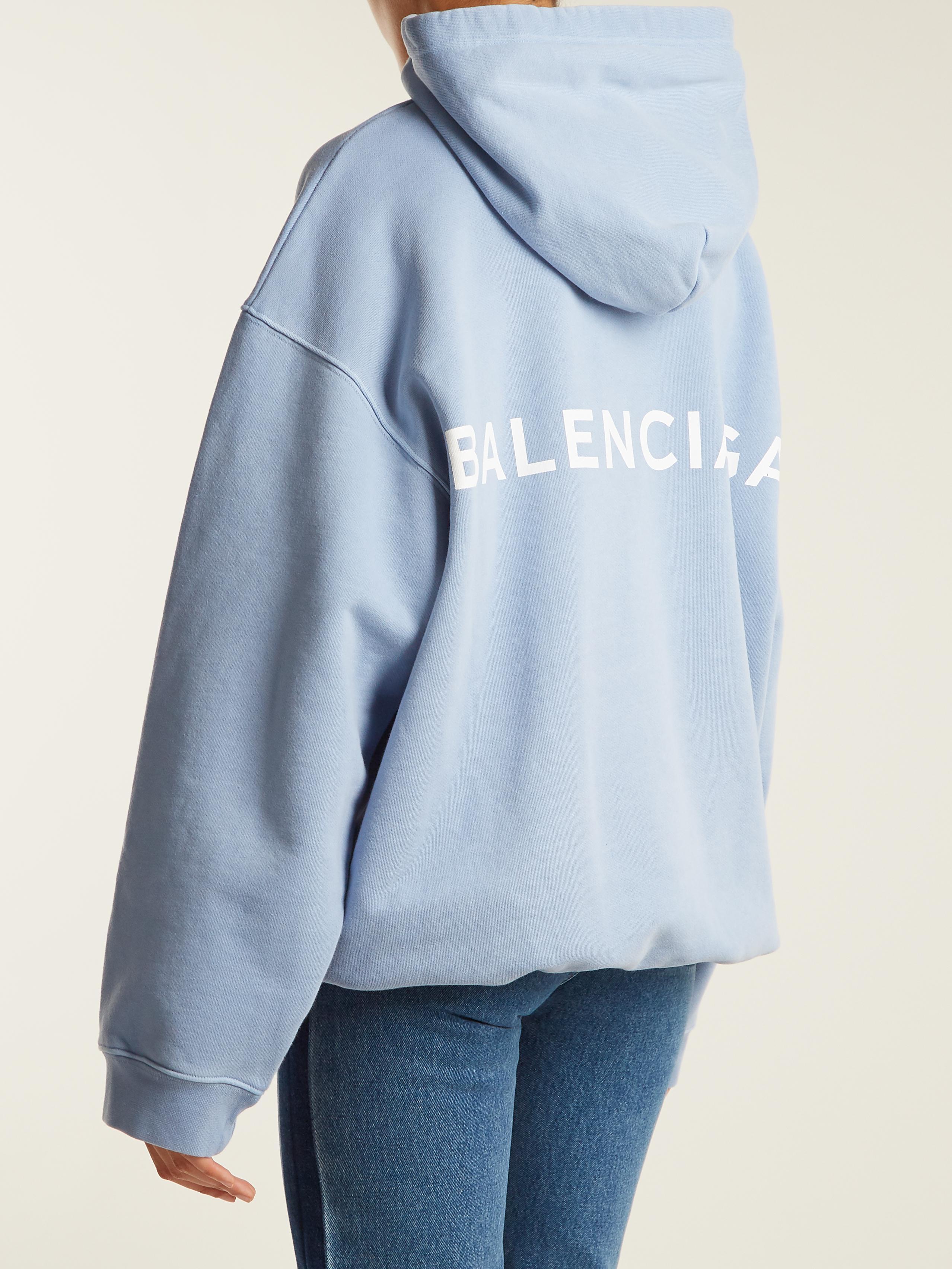 Lyst Balenciaga Hoodie Sweater In Blue