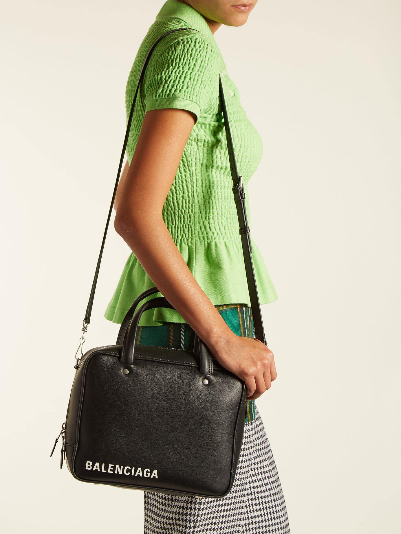 e0d76601957 Balenciaga Triangle Square S Bag in Black - Lyst