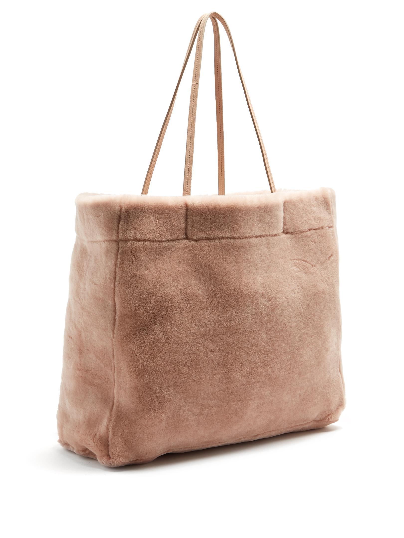 Brown flap shearling box bag Prada TBN4Yzvs7