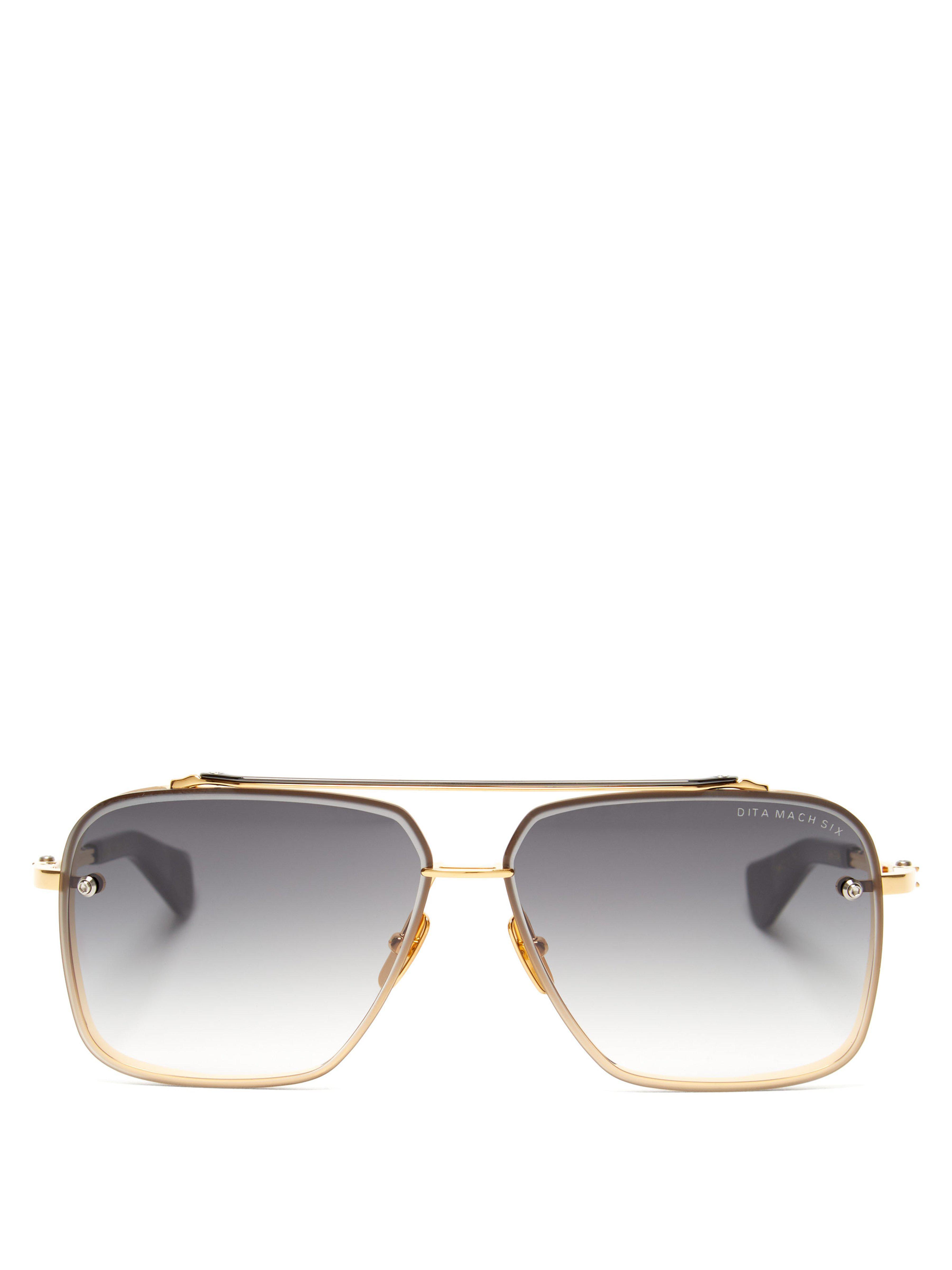 3b907cf6019 Dita Eyewear Mach Six Aviator Sunglasses in Metallic for Men - Lyst
