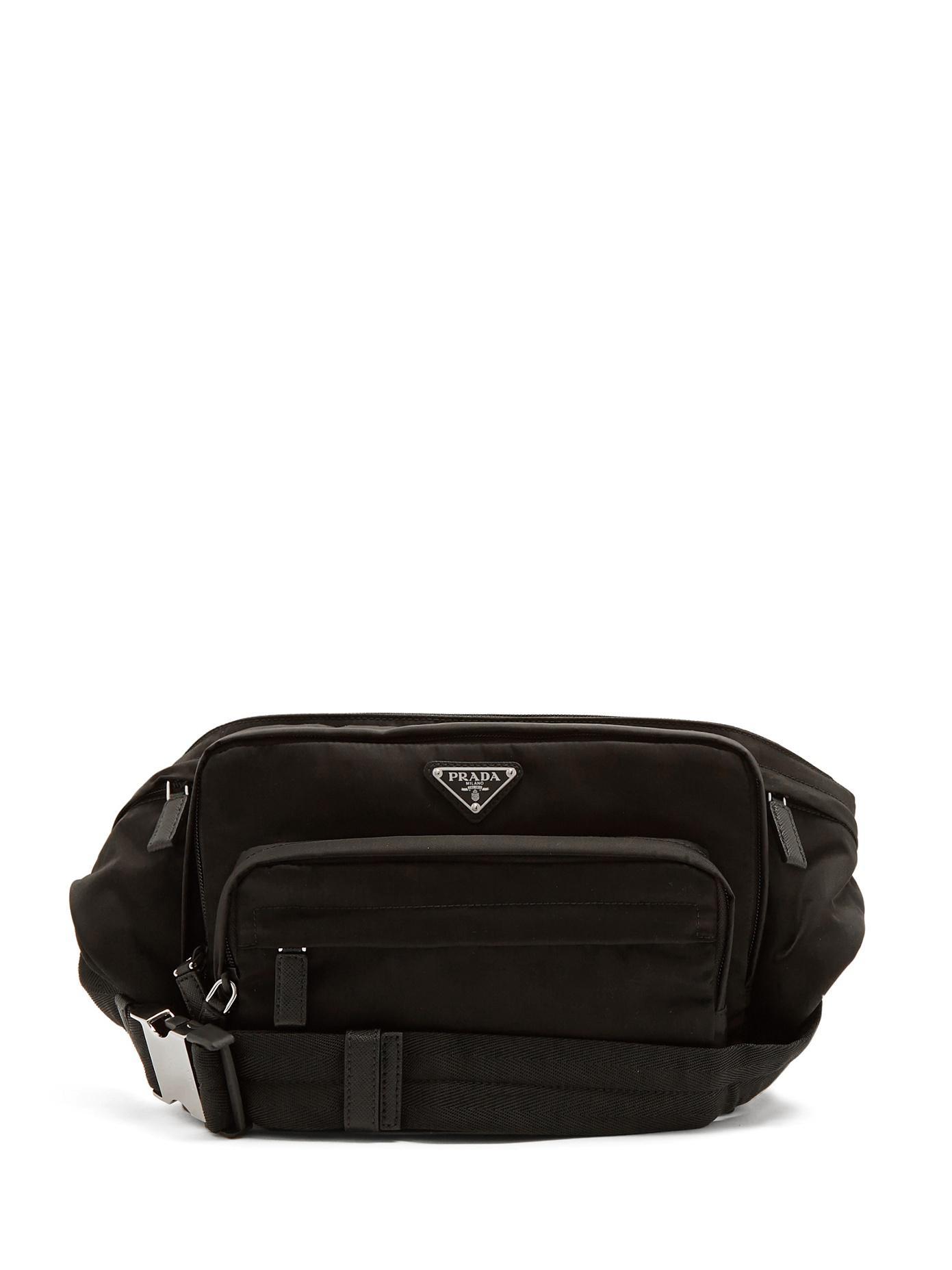 ... sale prada nylon belt bag in black for men lyst 5af56 95dc7 e1010fc23ff07