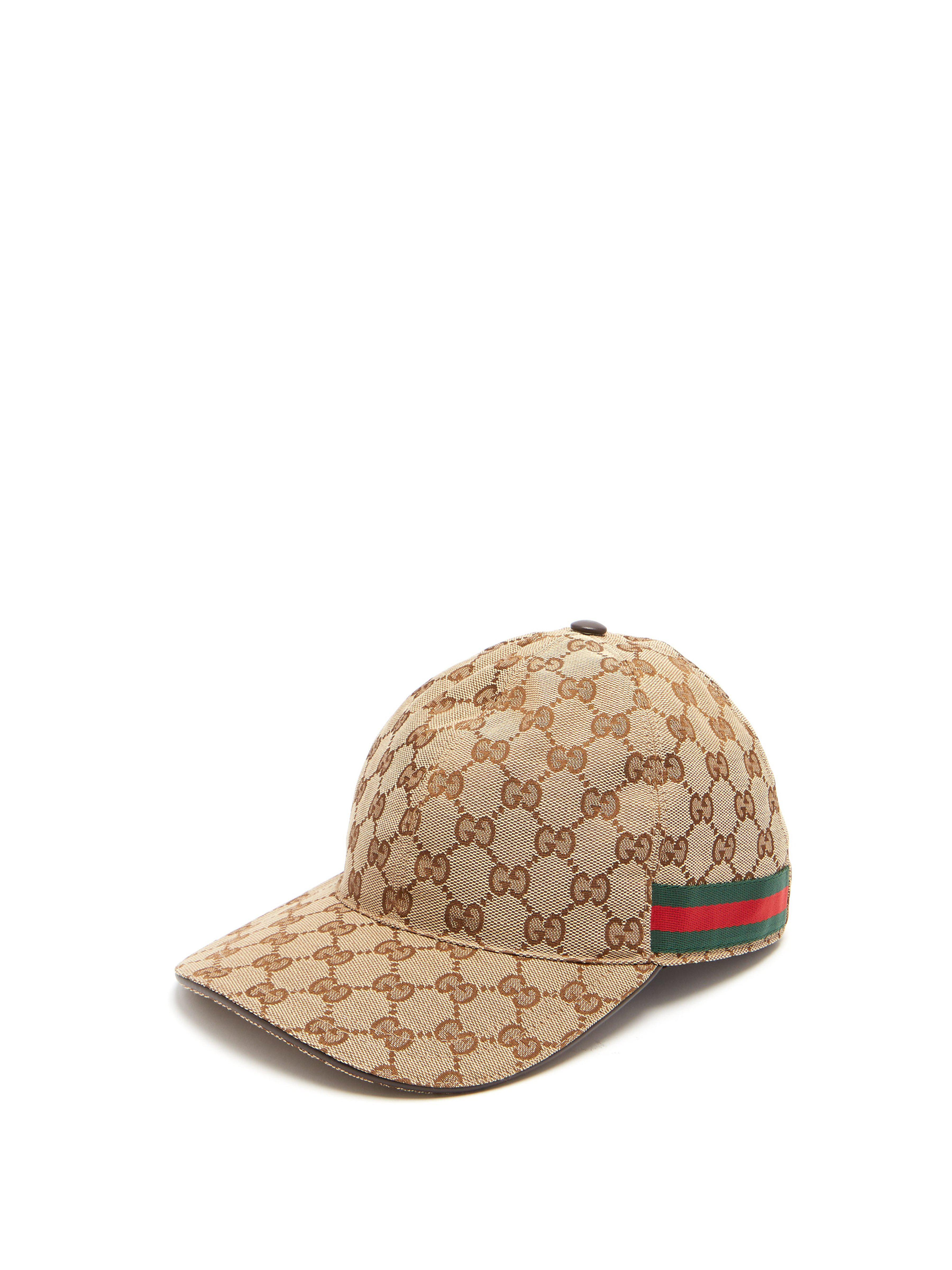 db83becb109 Gucci Web Stripe Gg Logo Baseball Cap in Natural for Men - Lyst