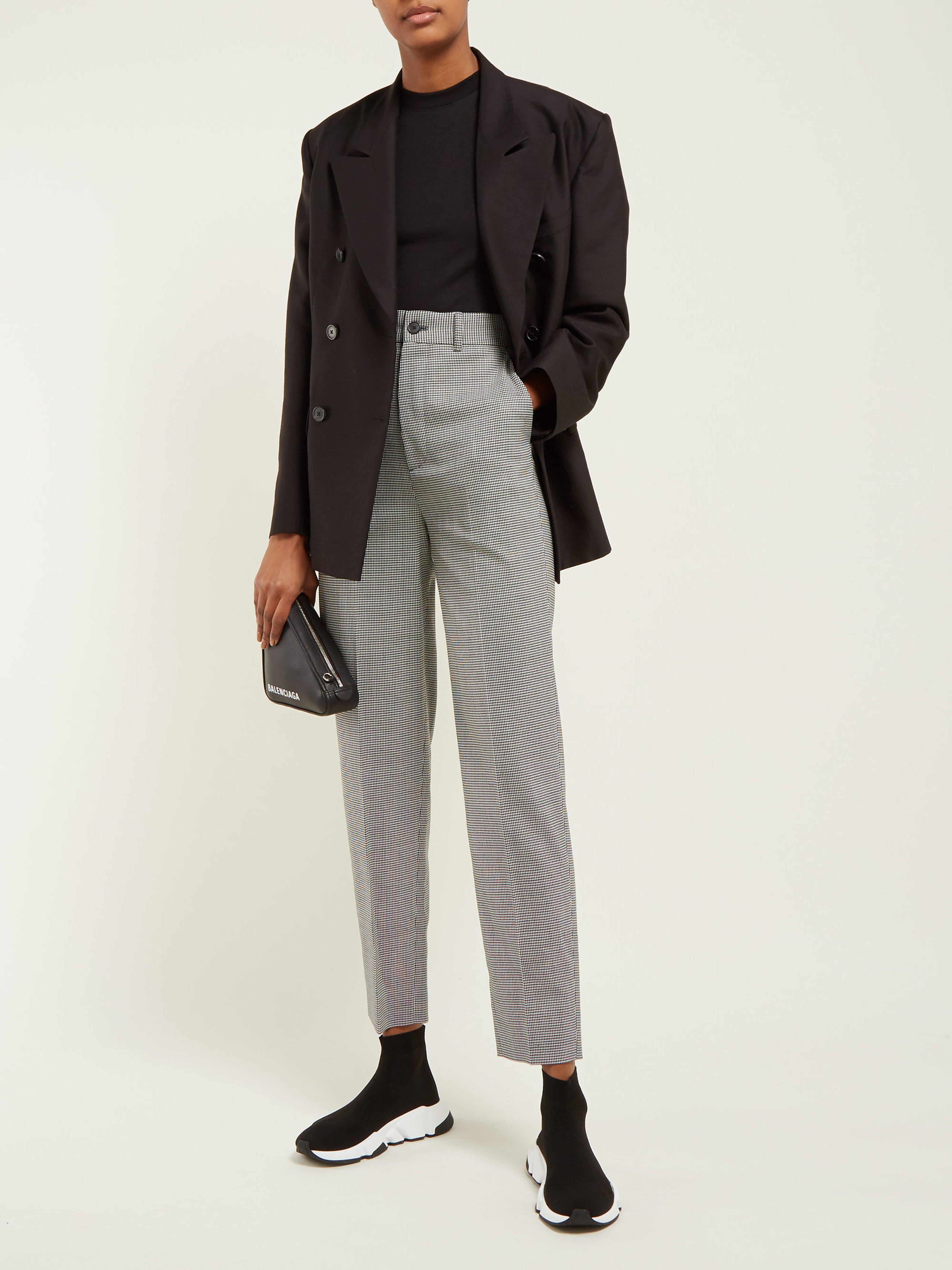 buy popular c8485 7240c Baskets montantes effet chaussette Speed Balenciaga en coloris Noir - 24 %  de réduction - Lyst