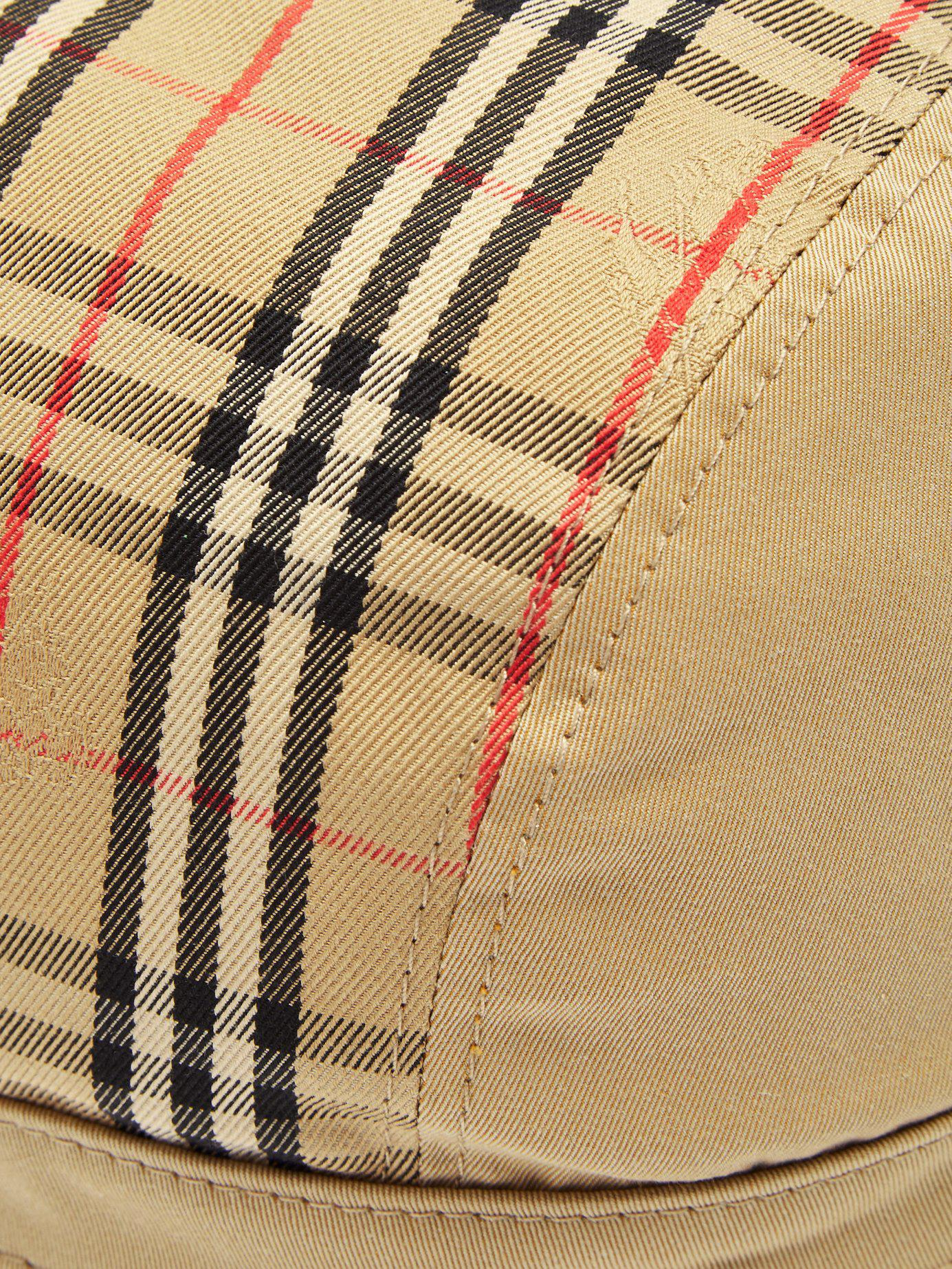 47d97e1d889 Lyst - Burberry 1983 Vintage Check Bucket Hat in Natural for Men