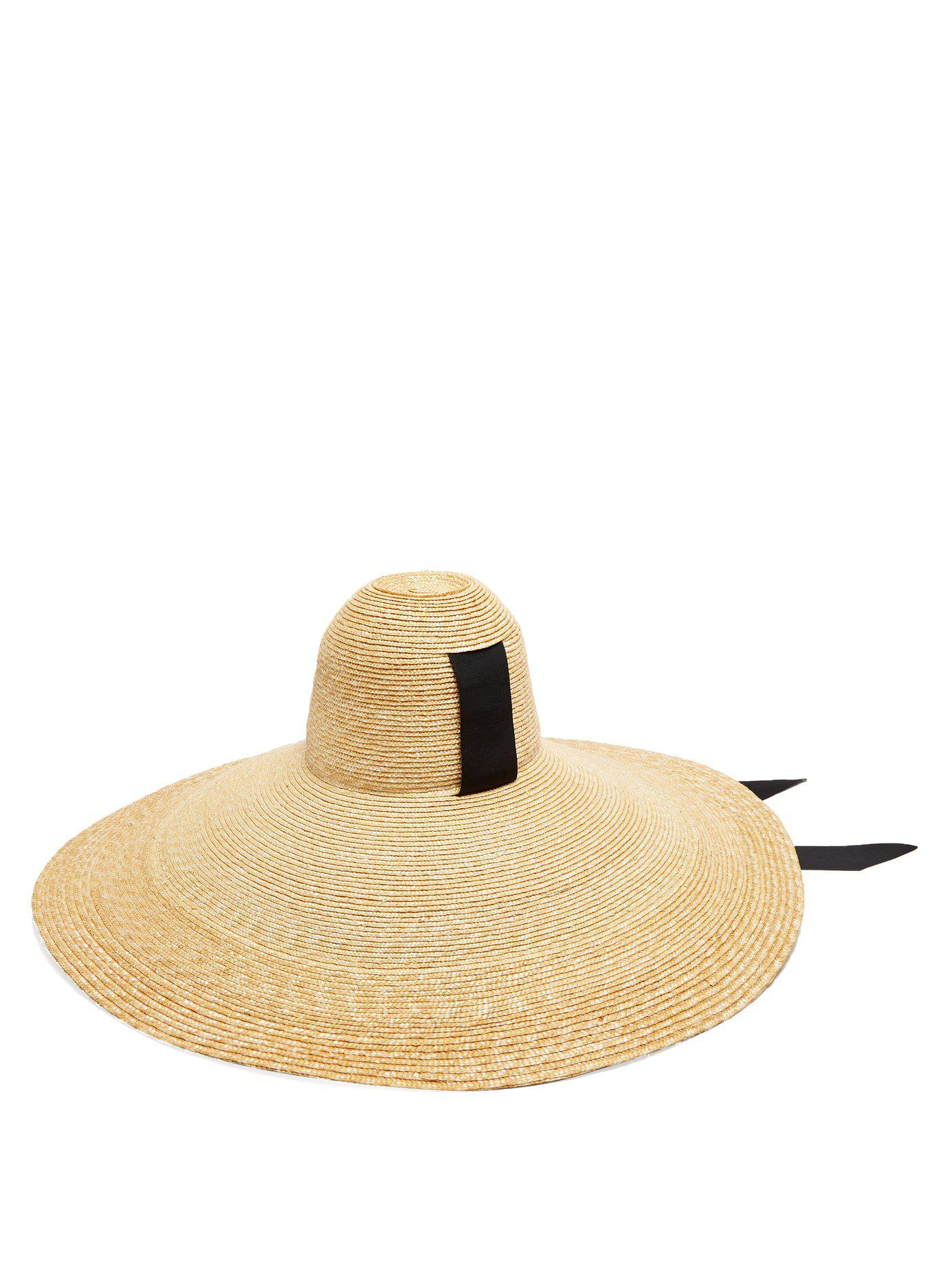 363e76cf5d978 Lola Hats Sugar Cone Wide Brim Straw Hat in Black - Lyst
