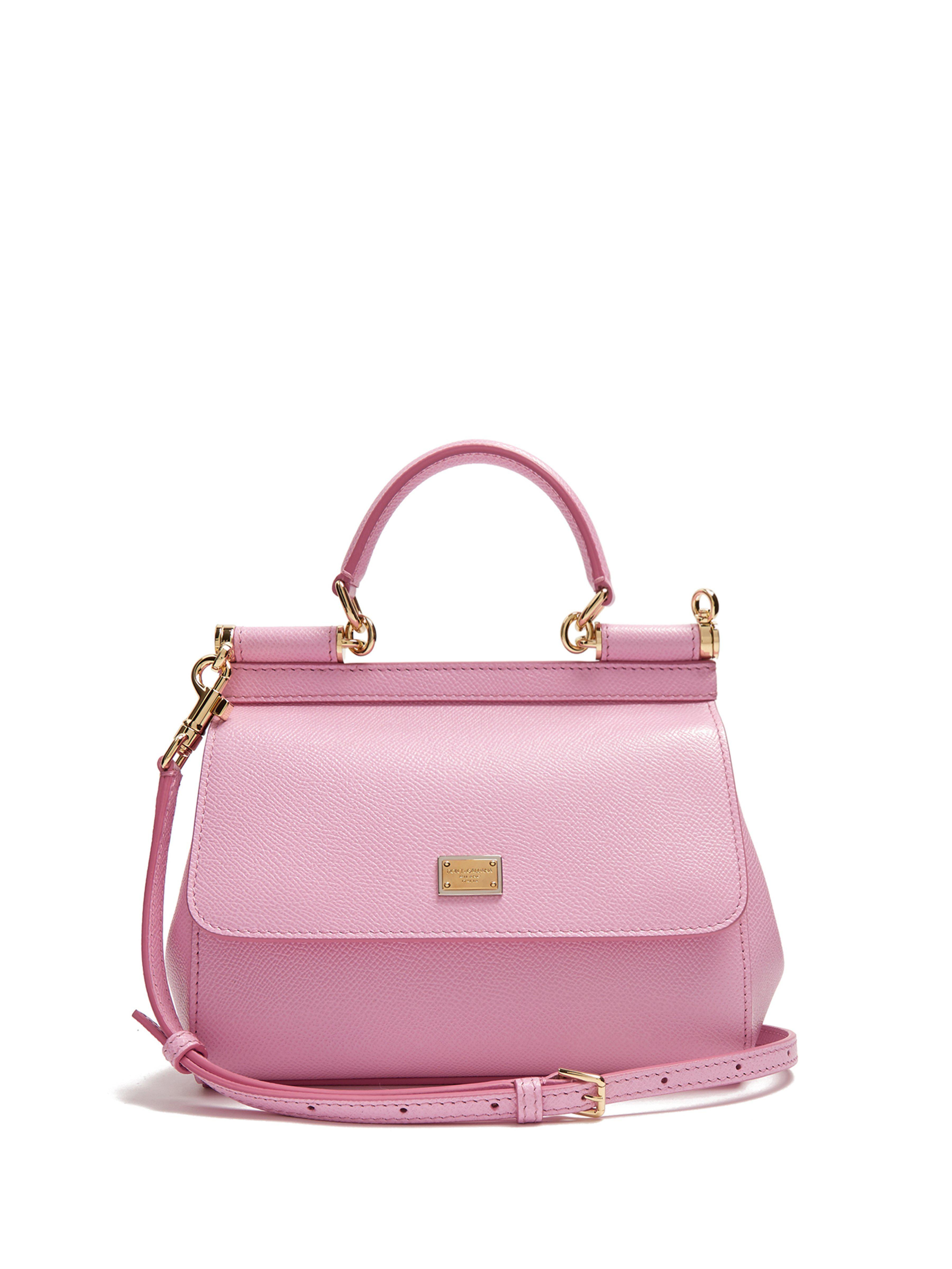 ad819d5b34 Dolce   Gabbana Sicily Small Dauphine Leather Bag in Pink - Save 7 ...