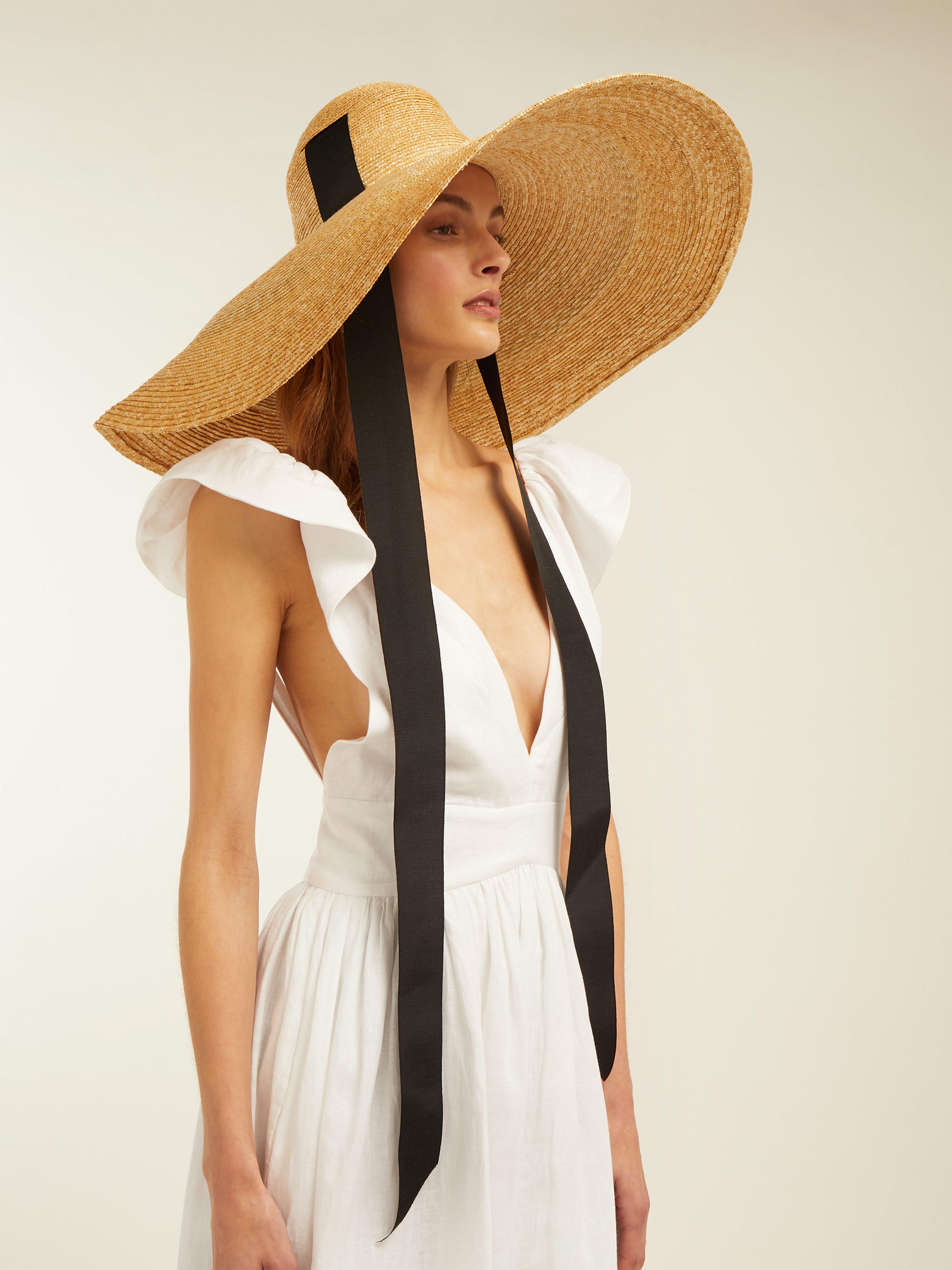 b68a8de3790 Lola Hats Sugar Cone Wide Brim Straw Hat in Black - Lyst