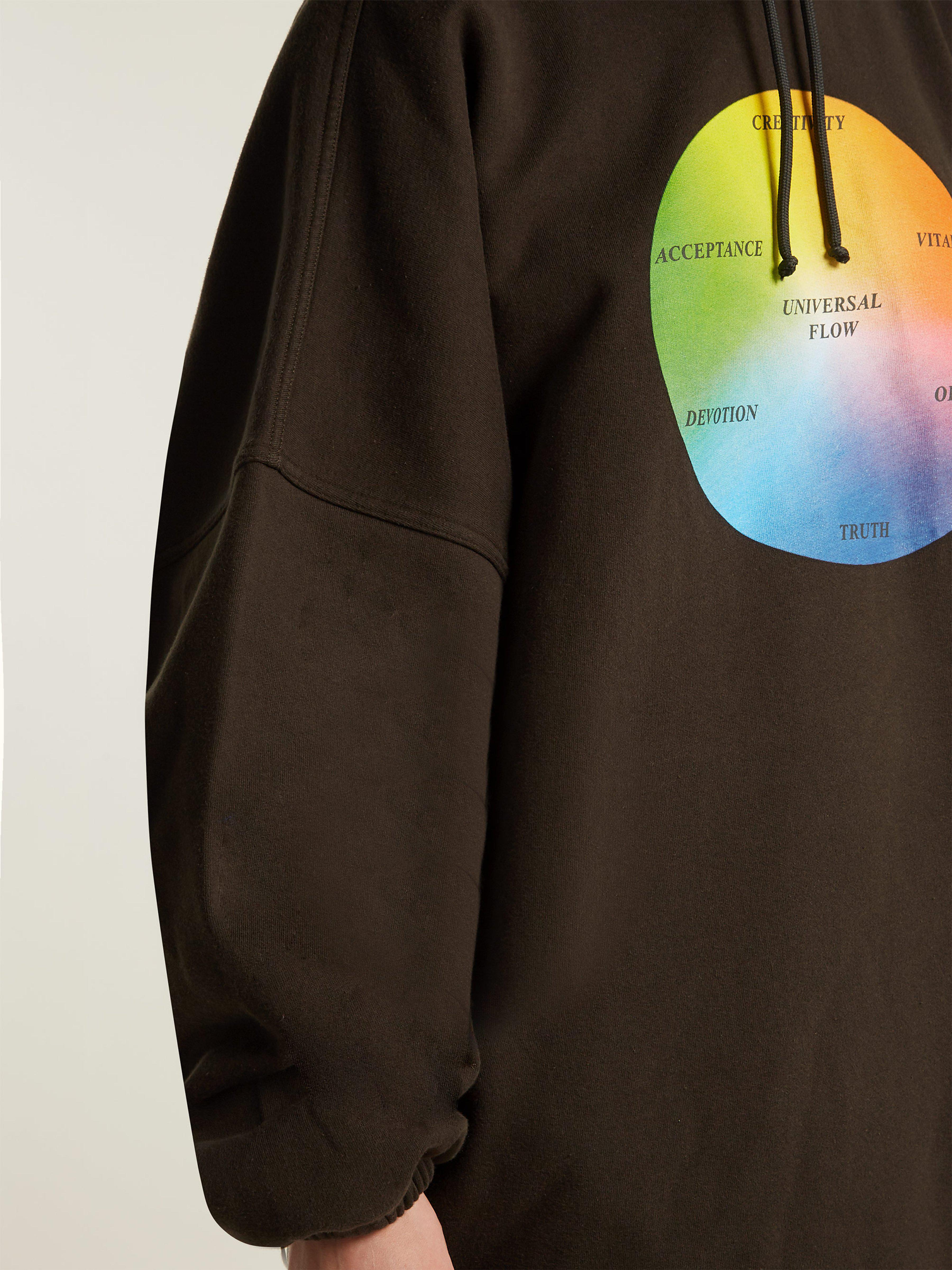 c1a3b1600 Balenciaga - Black Universal Flow Cotton Jersey Hooded Sweatshirt - Lyst.  View fullscreen