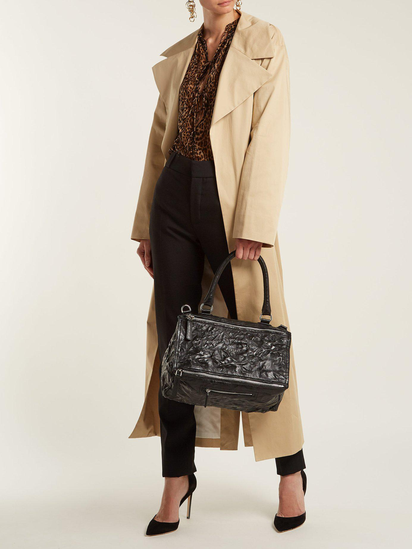 Givenchy - Black Pandora Medium Creased Leather Bag - Lyst. View fullscreen d0f88316a052b