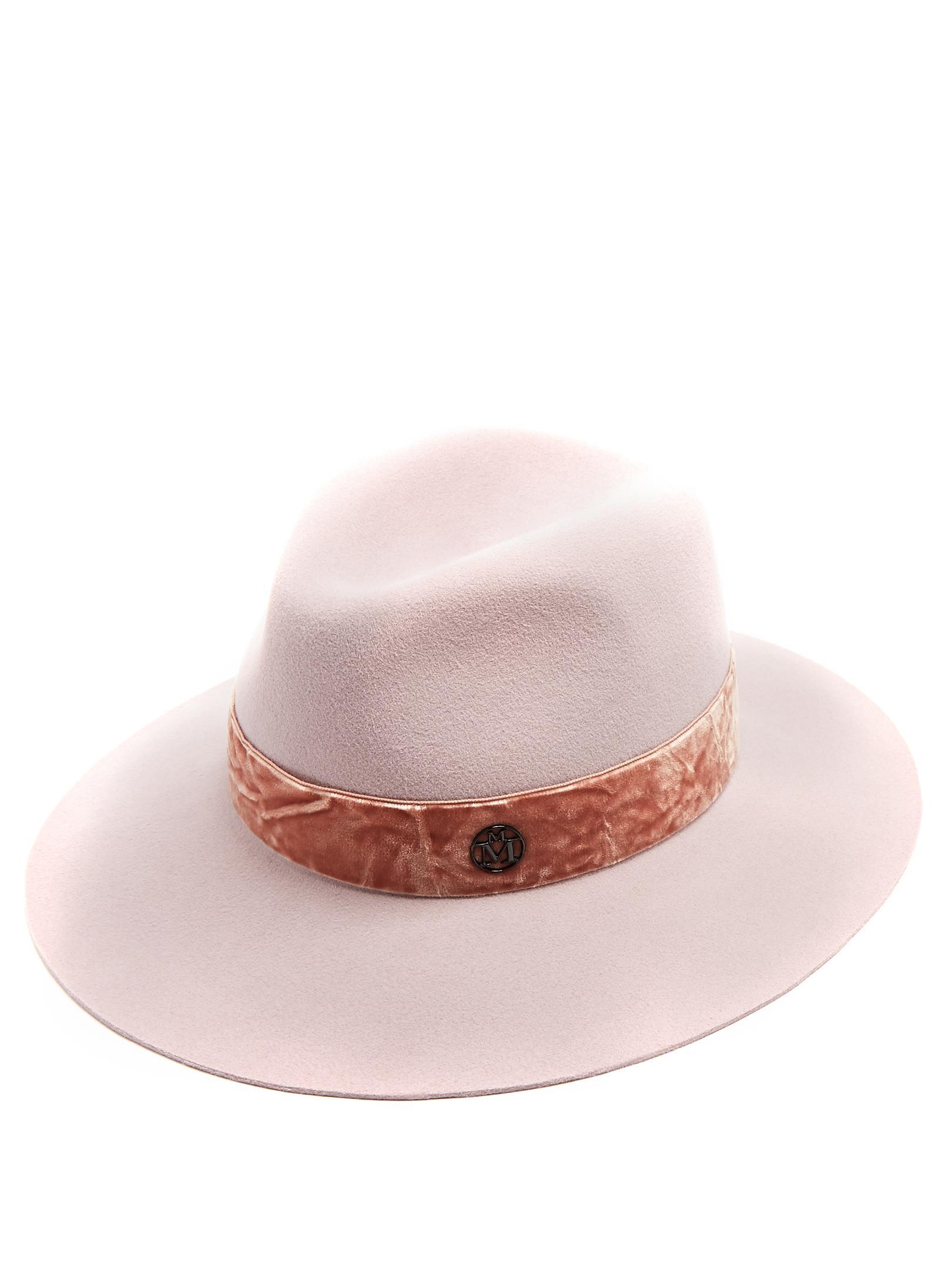 7cad42778a6cf2 Lyst - Maison Michel Henrietta Rabbit-fur Felt Hat in Pink