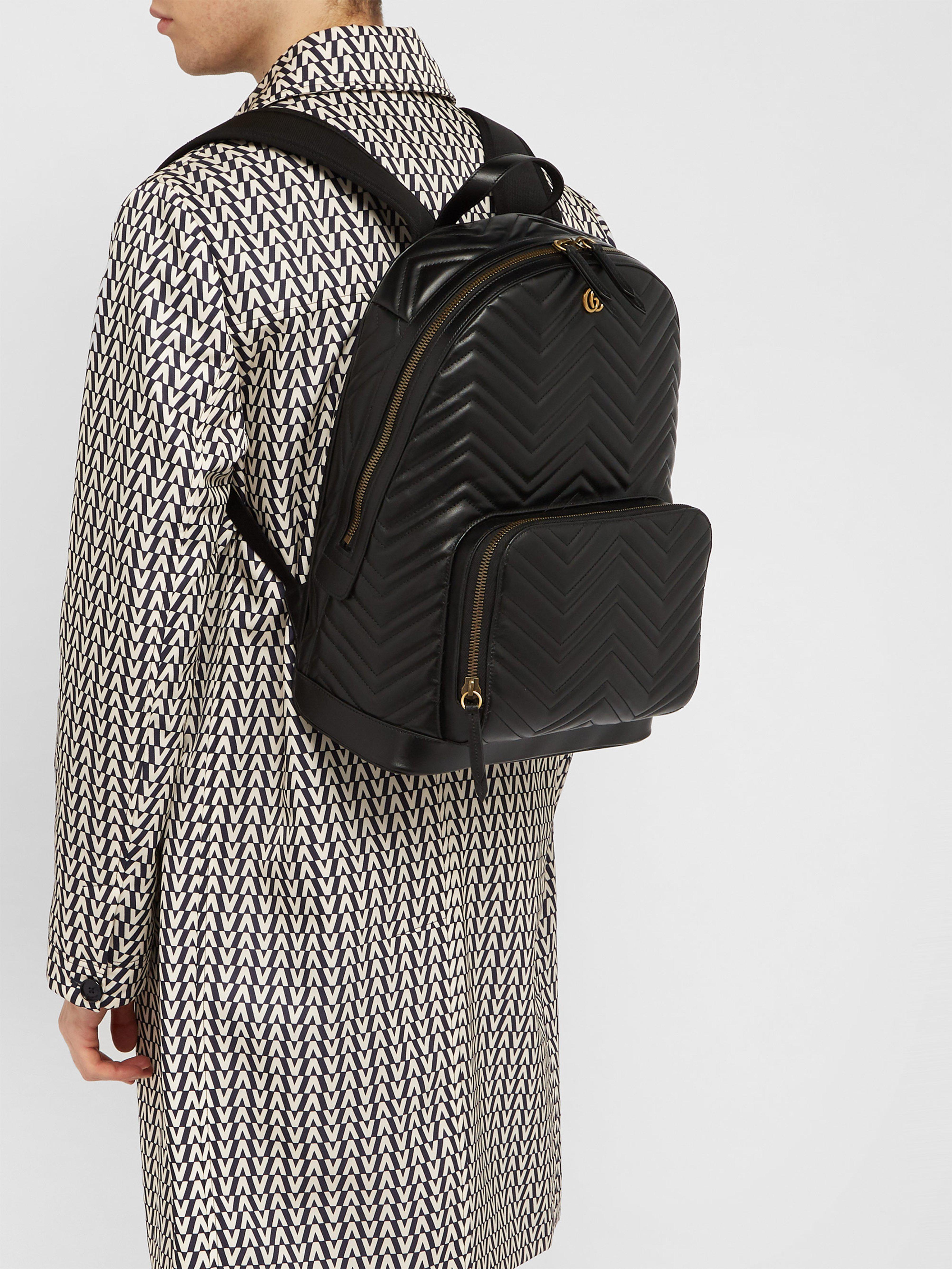 22716d09edcb Lyst - Sac à dos en cuir Marmont Gucci pour homme en coloris Noir