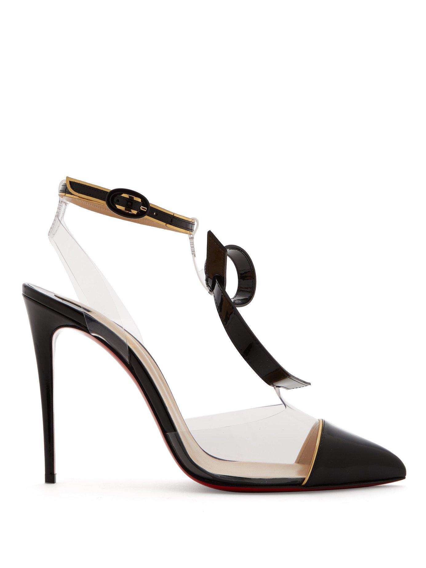 0ea1b471eb1 Lyst - Christian Louboutin Alta Firma Leather And Perspex Pumps in Black