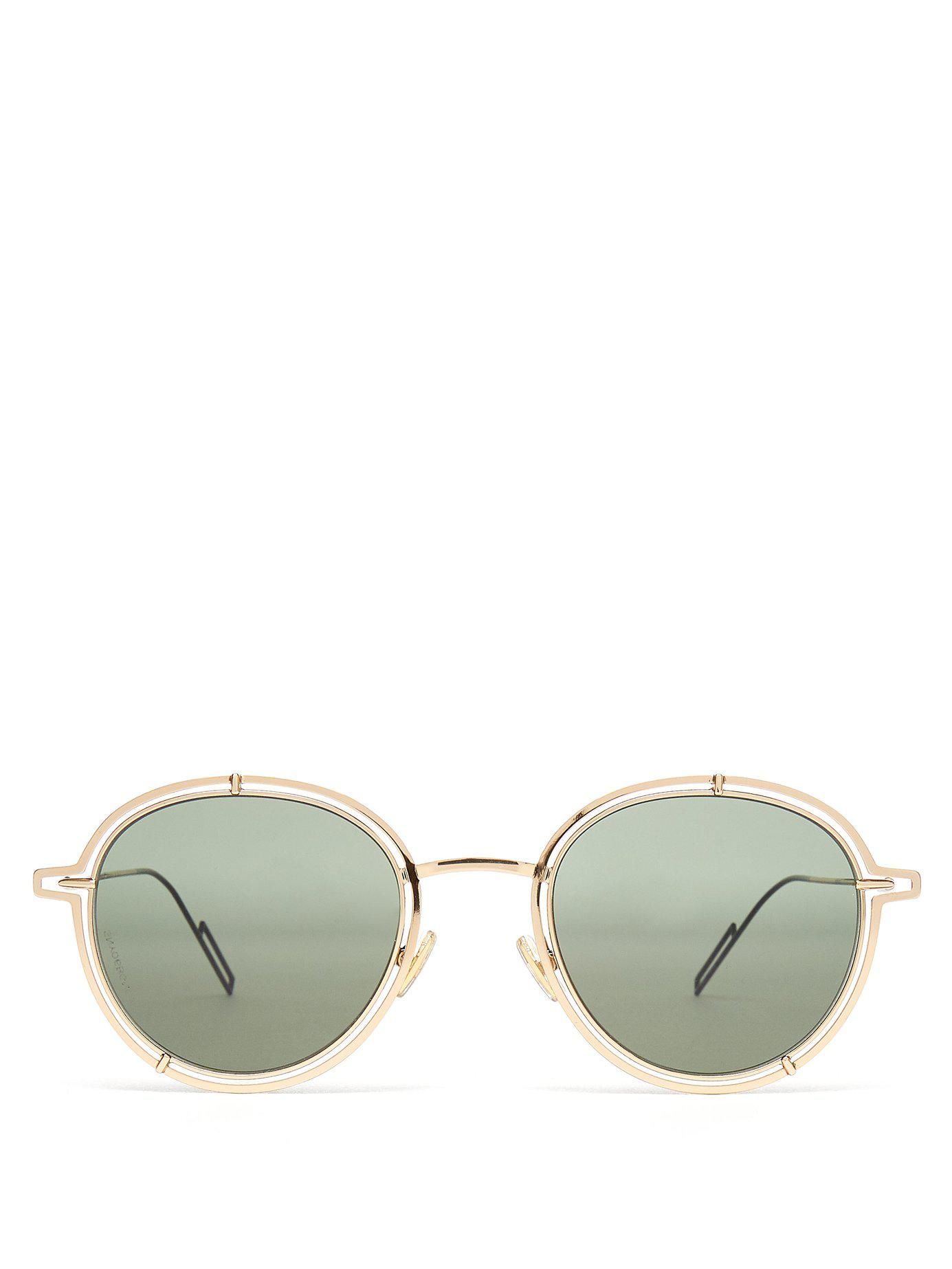 8ba6d50aa9 Lyst - Dior Homme Dior0210s Round Frame Sunglasses in Metallic for Men