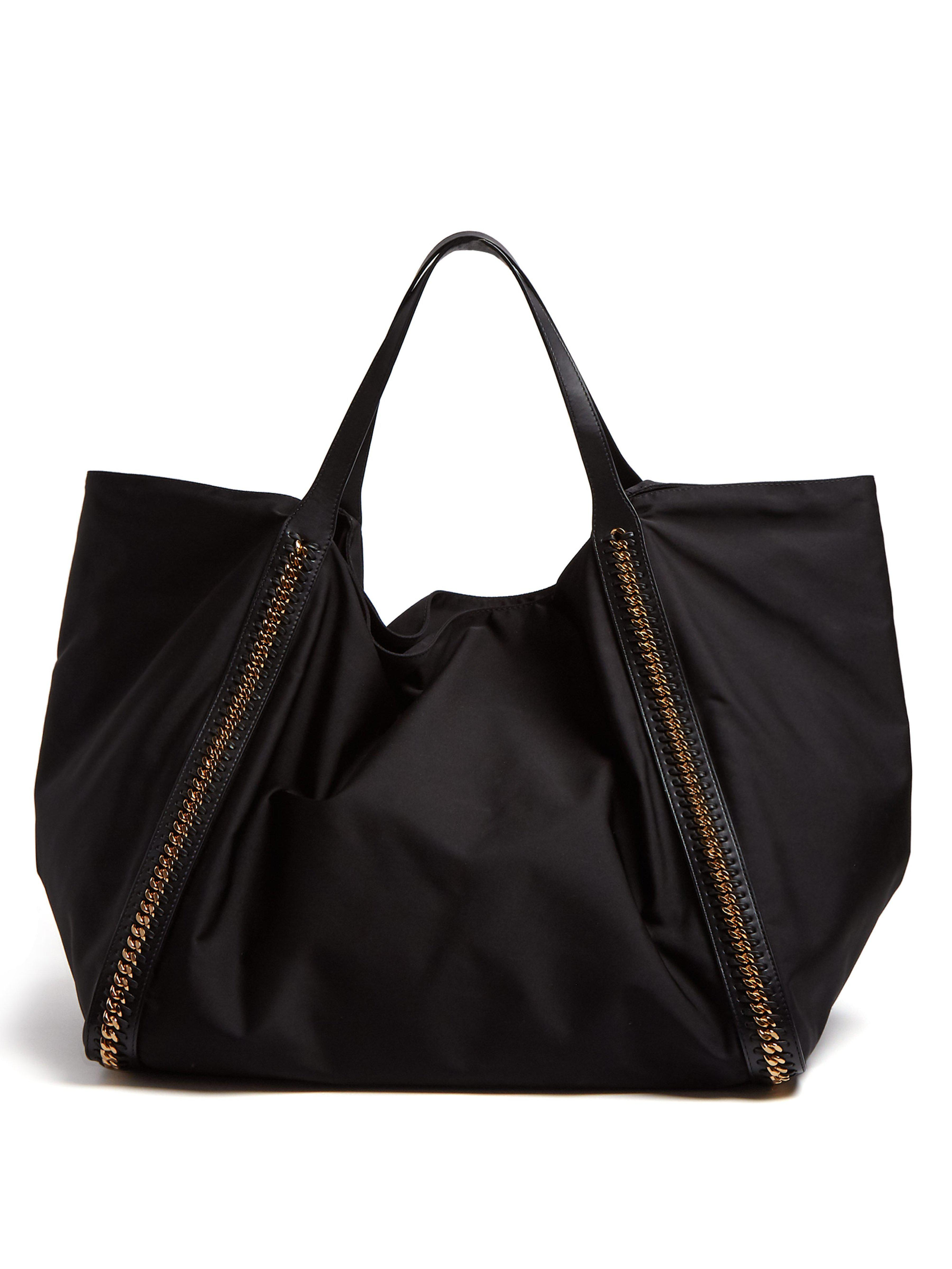 246af0e94879 Stella McCartney. Women s Black Falabella Go Oversized Eco Nylon Tote Bag