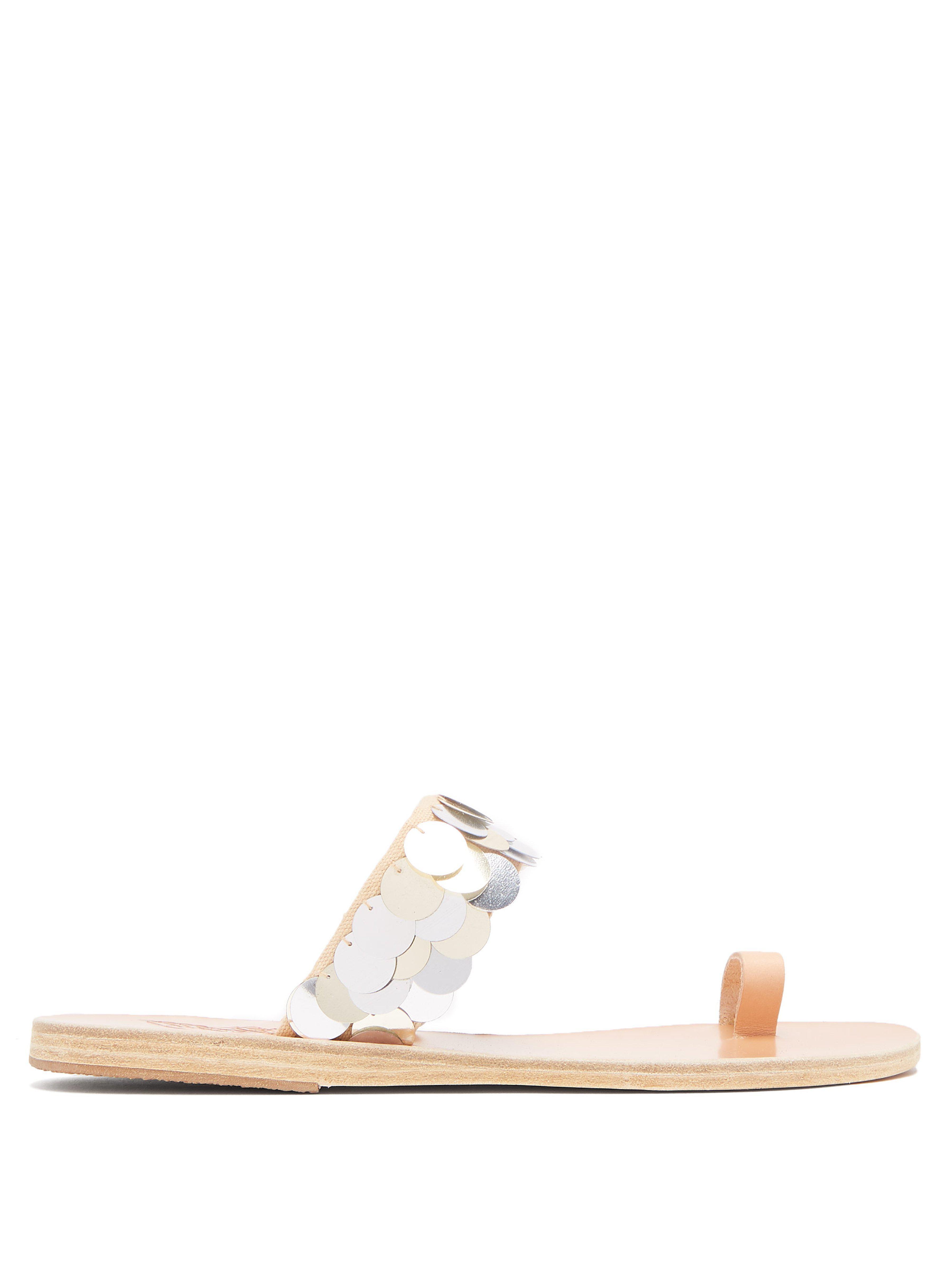 e31649f00880f Ancient Greek Sandals Thraki Toe Ring Strap Sandals in Metallic - Lyst