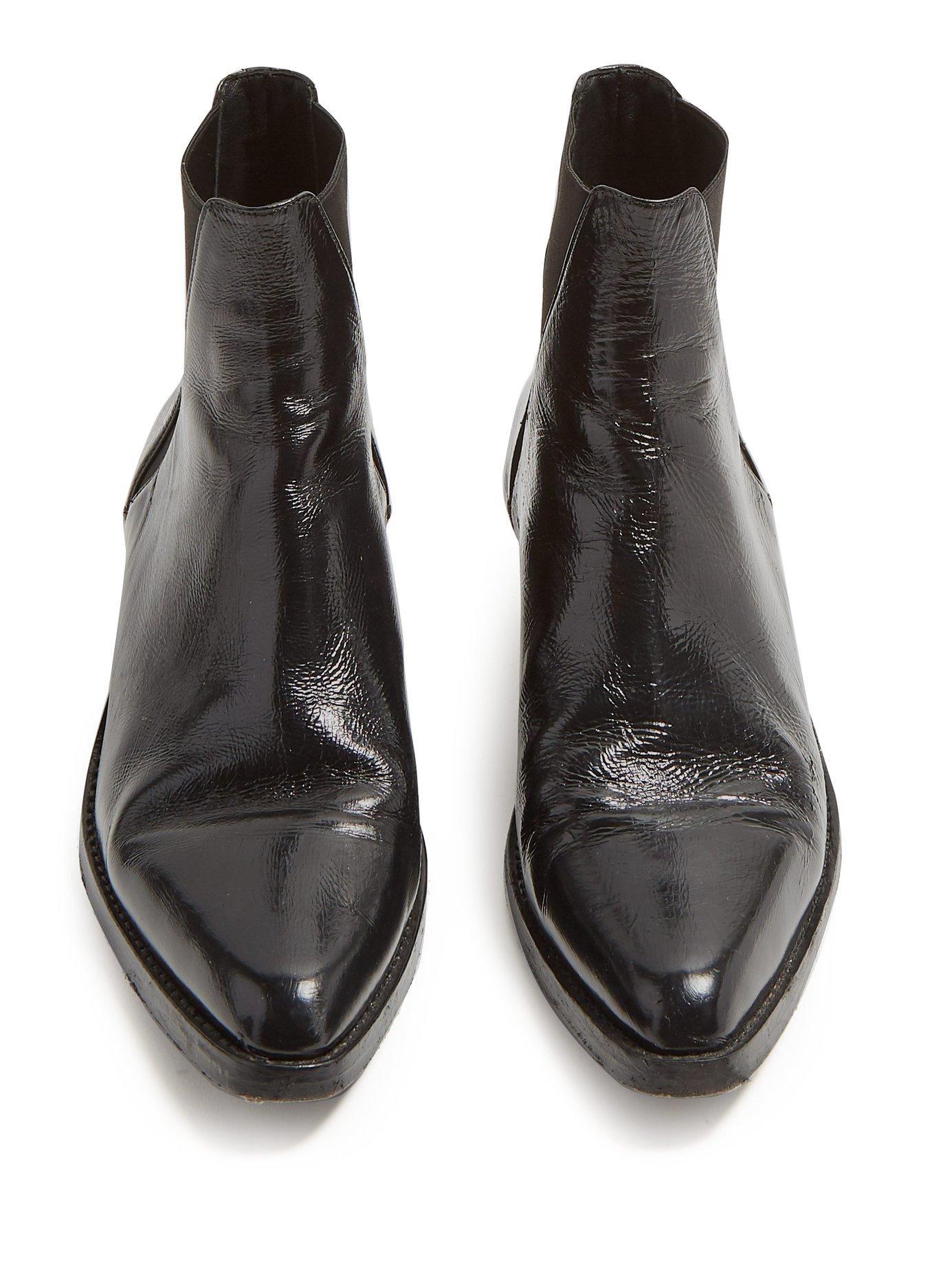 41e27f148e20 Saint Laurent - Black Dakota Leather Chelsea Boots for Men - Lyst. View  fullscreen