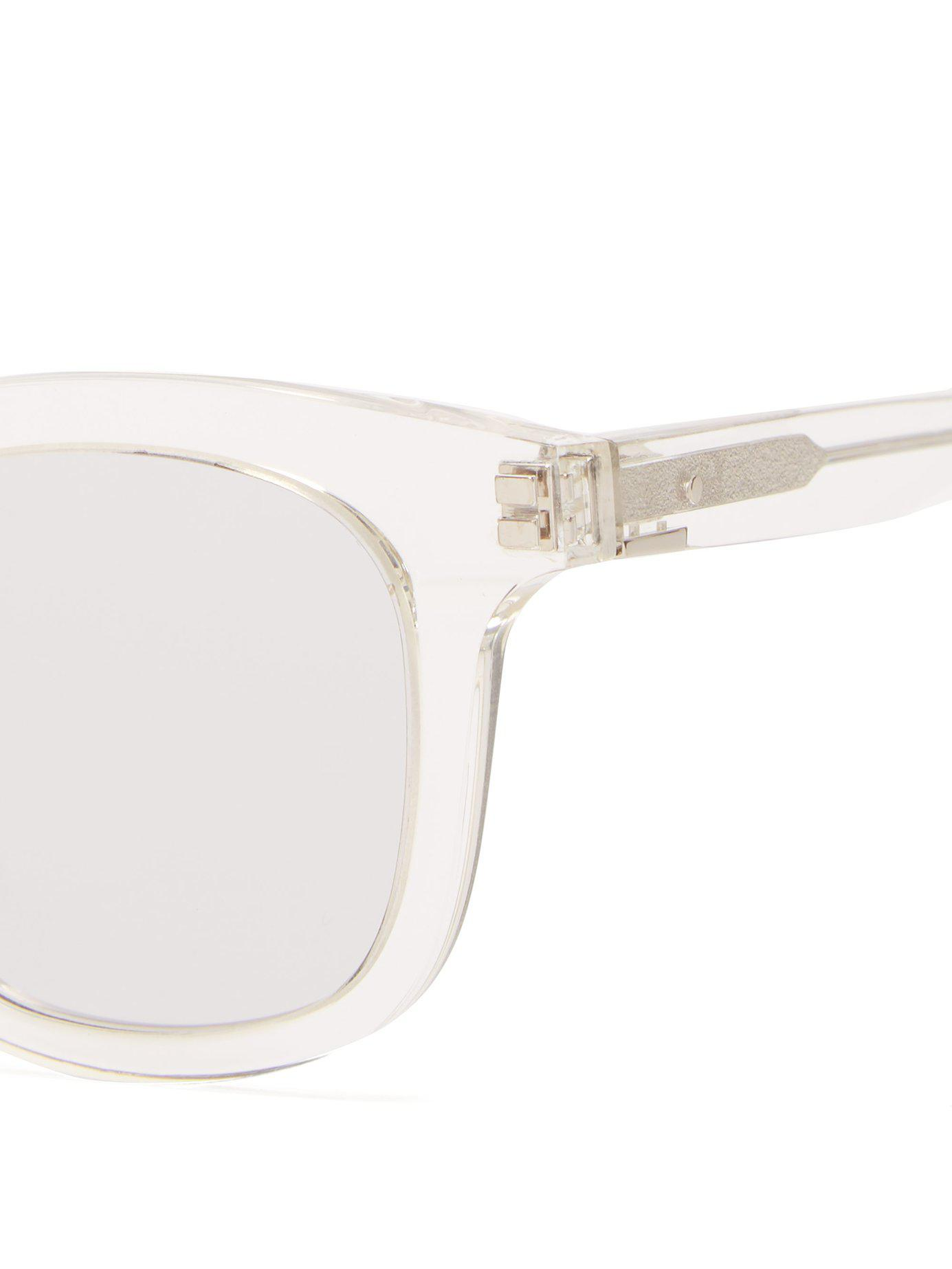 5d6bca58aa Gentle Monster Dal Lake Acetate Glasses in White for Men - Lyst