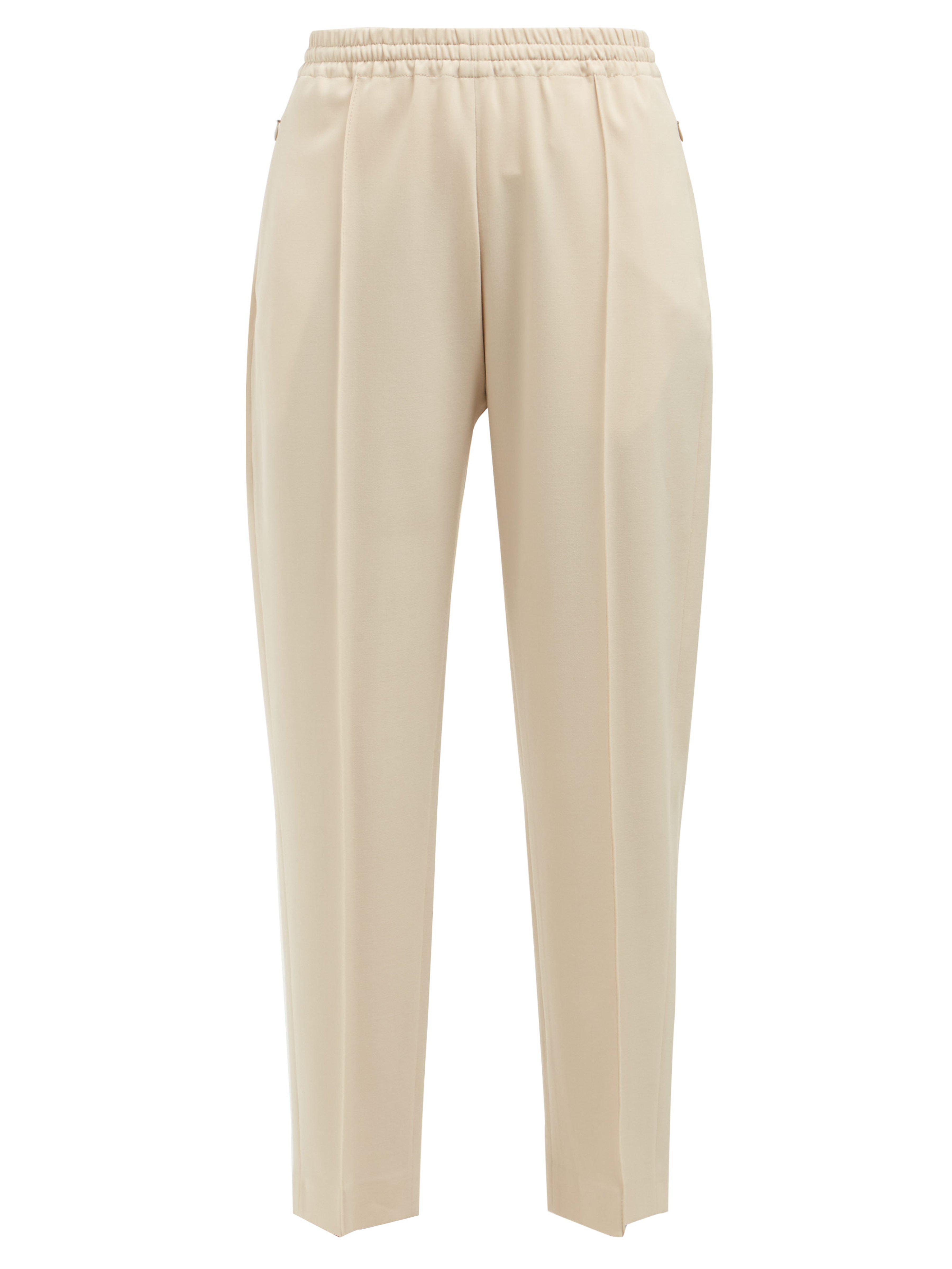 4c68f487a06 JOSEPH Dalton Wool Blend Trousers in Natural - Lyst