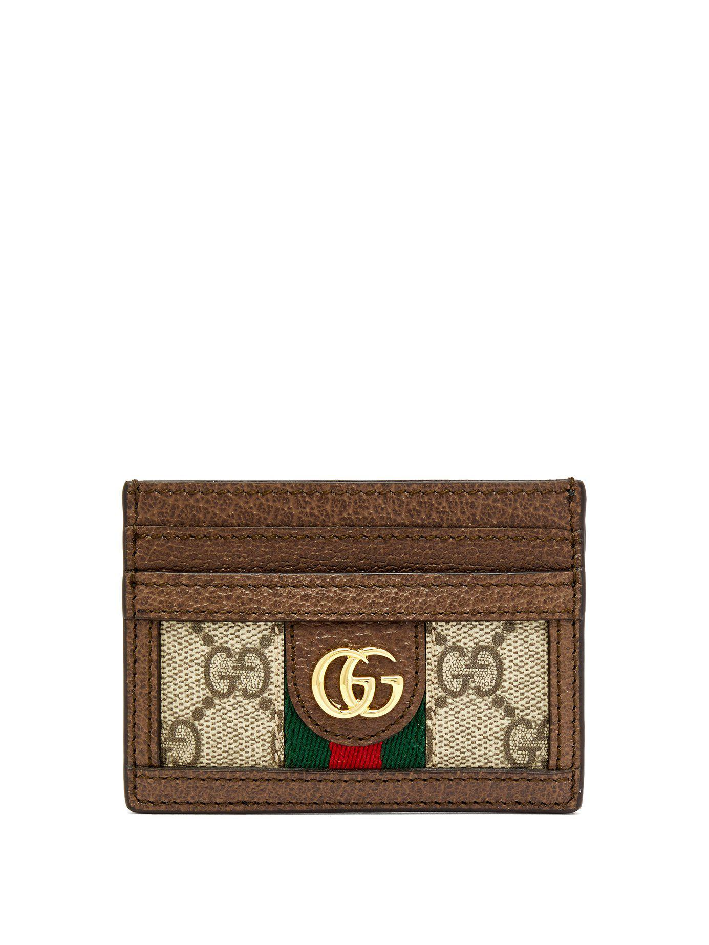 e5ccb54c2832 Lyst - Gucci Ophidia Gg Plaque Leather Cardholder - Save 29%
