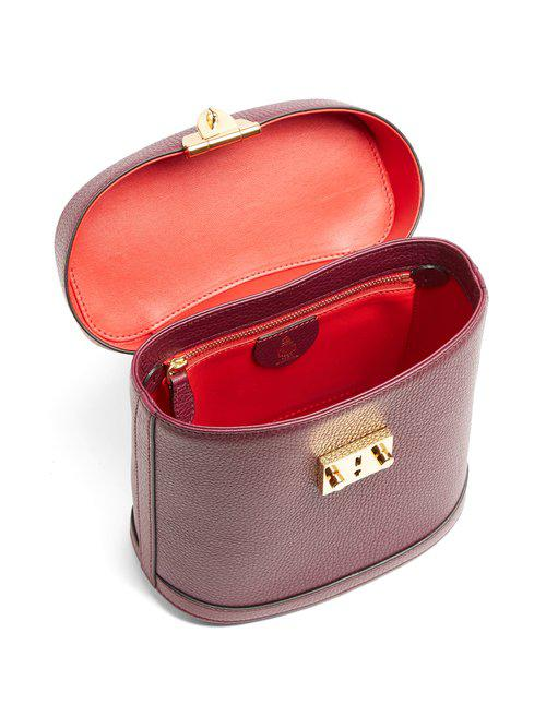 Mark Cross Benchley Grained-leather Shoulder Bag in Red - Lyst 628c7093a9