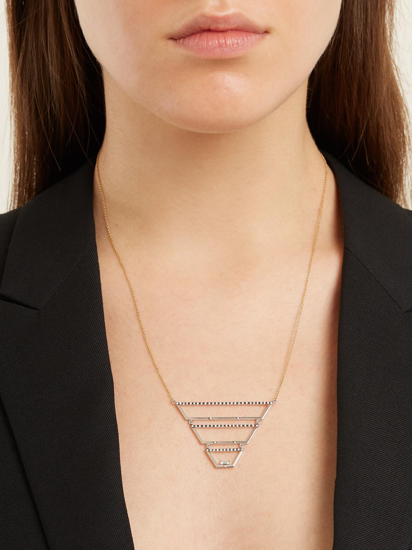 Susan Foster Diamond, white-gold & yellow-gold necklace
