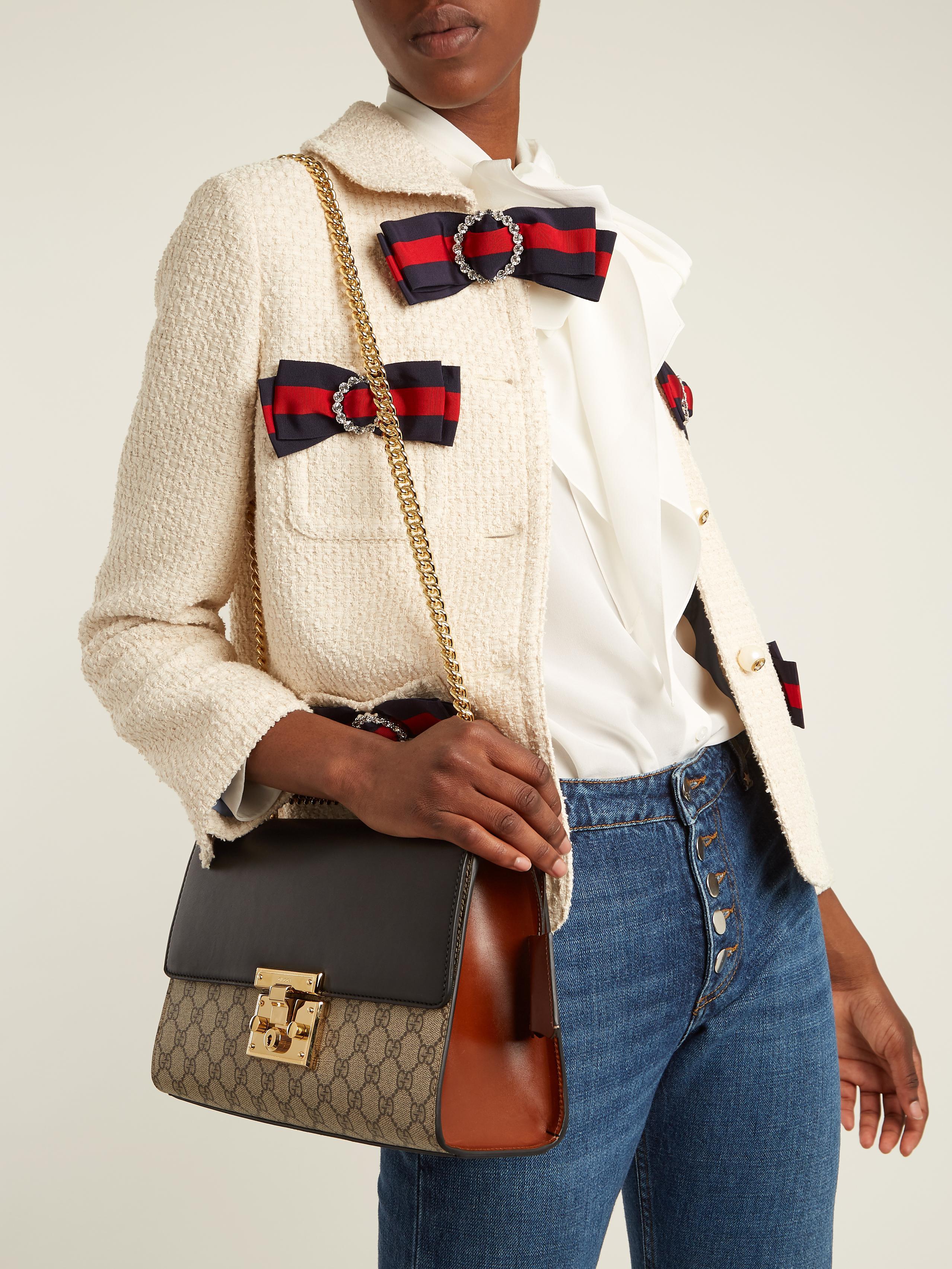0321184b28d6 Gucci Padlock Gg Supreme Medium Shoulder Bag - Lyst