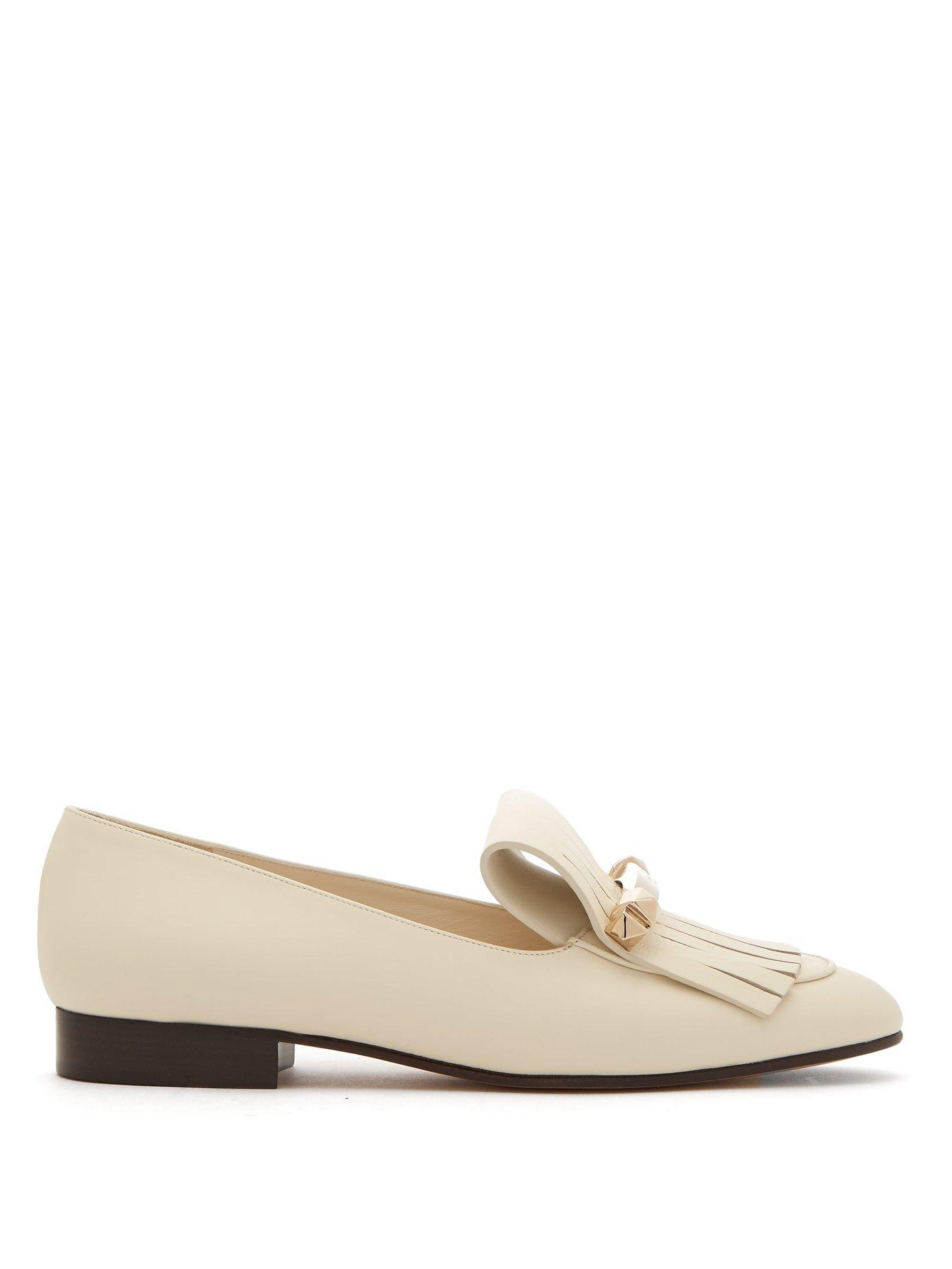 0bc9dba015e Valentino. Women s Uptown Fringed Leather Loafers