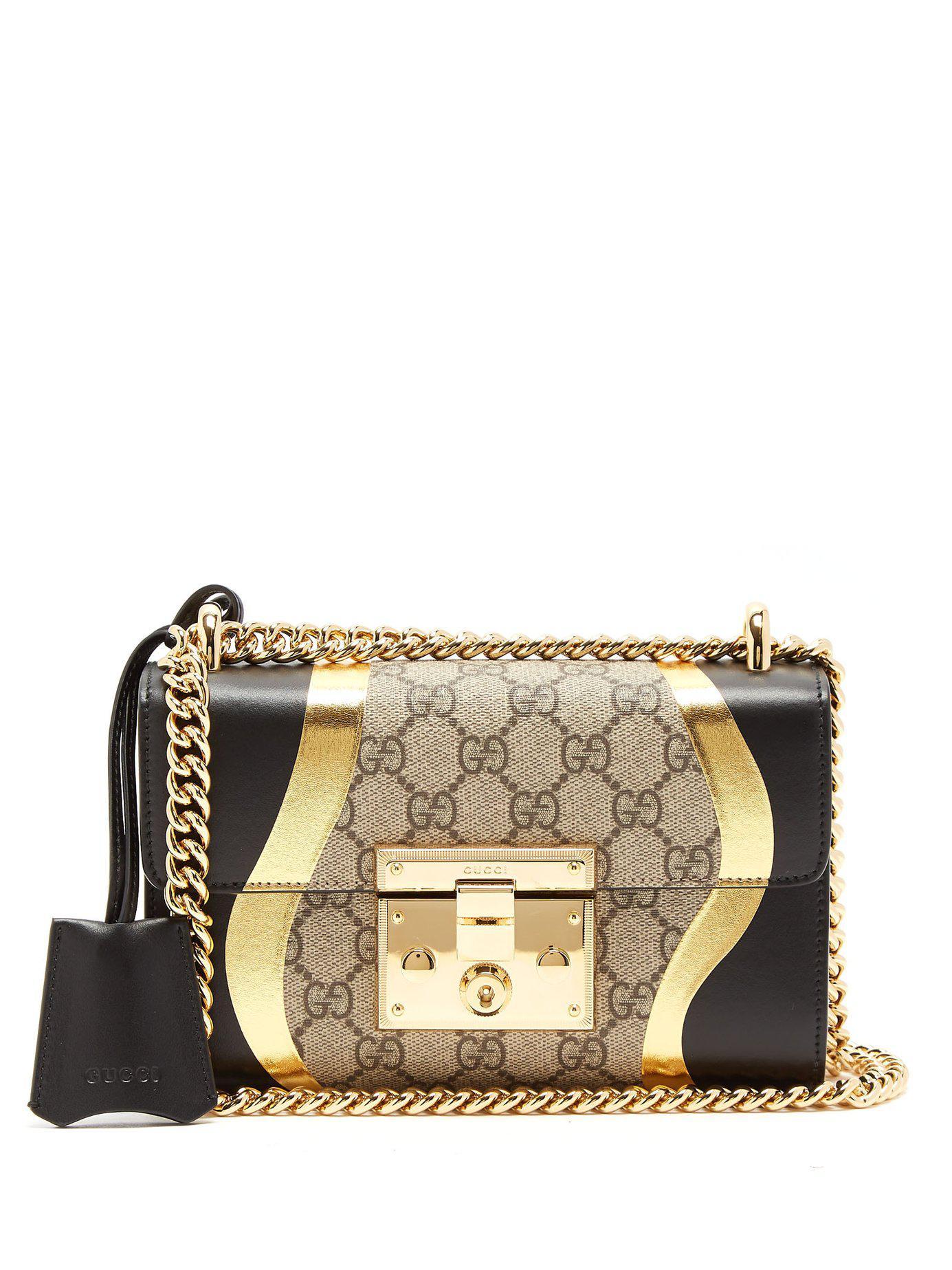 14e7ddd1eed9 Gucci. Women s Padlock Gg Supreme Leather Shoulder Bag