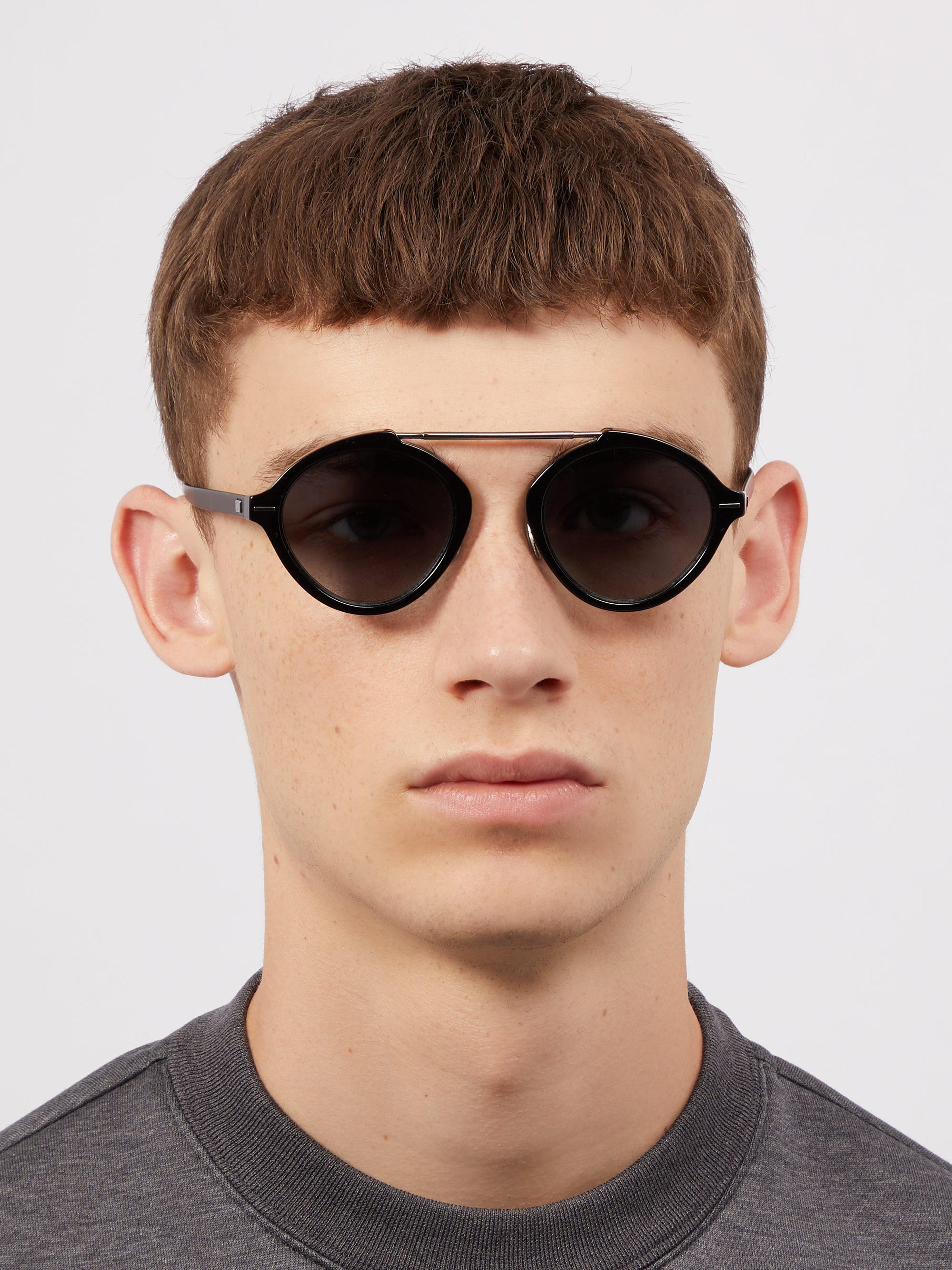 f97e09b9754471 Dior Homme - Black Lunettes de soleil rondes System for Men - Lyst.  Afficher en plein écran